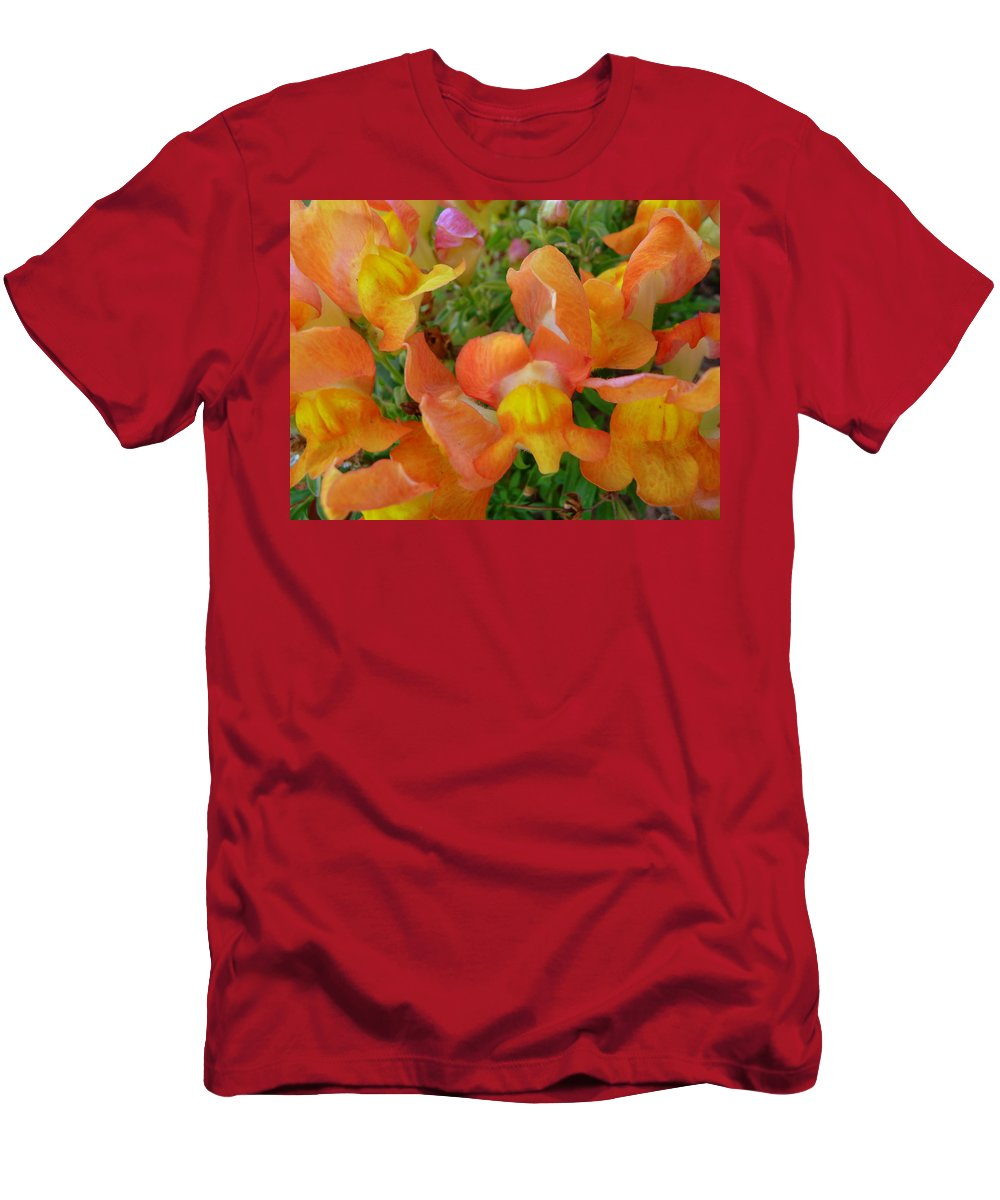 Snapdragon Men's T-Shirt (Athletic Fit) featuring the photograph Snapdragons by Jackie Austin