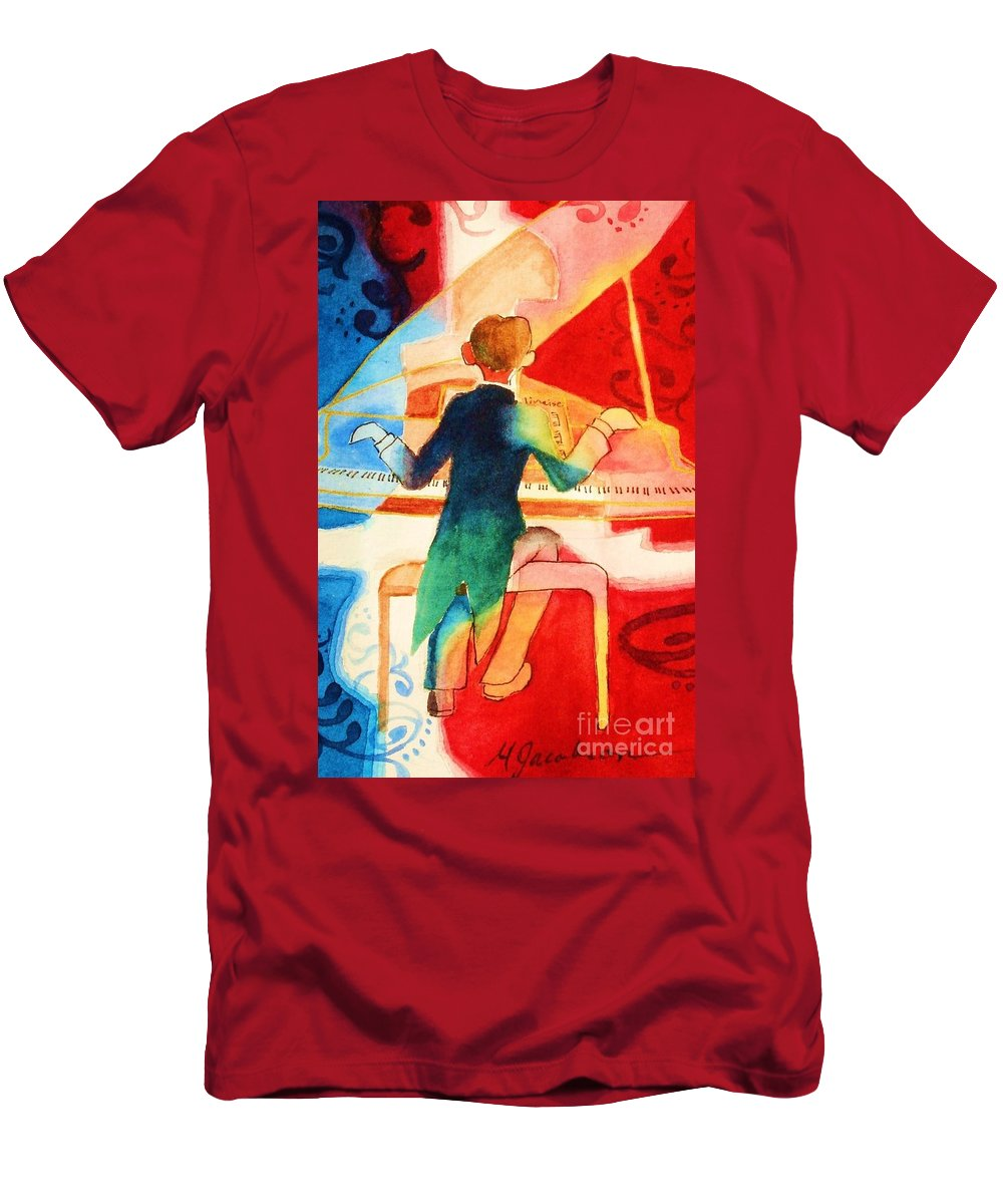 Abstract Men's T-Shirt (Athletic Fit) featuring the painting So Grand by Marilyn Jacobson