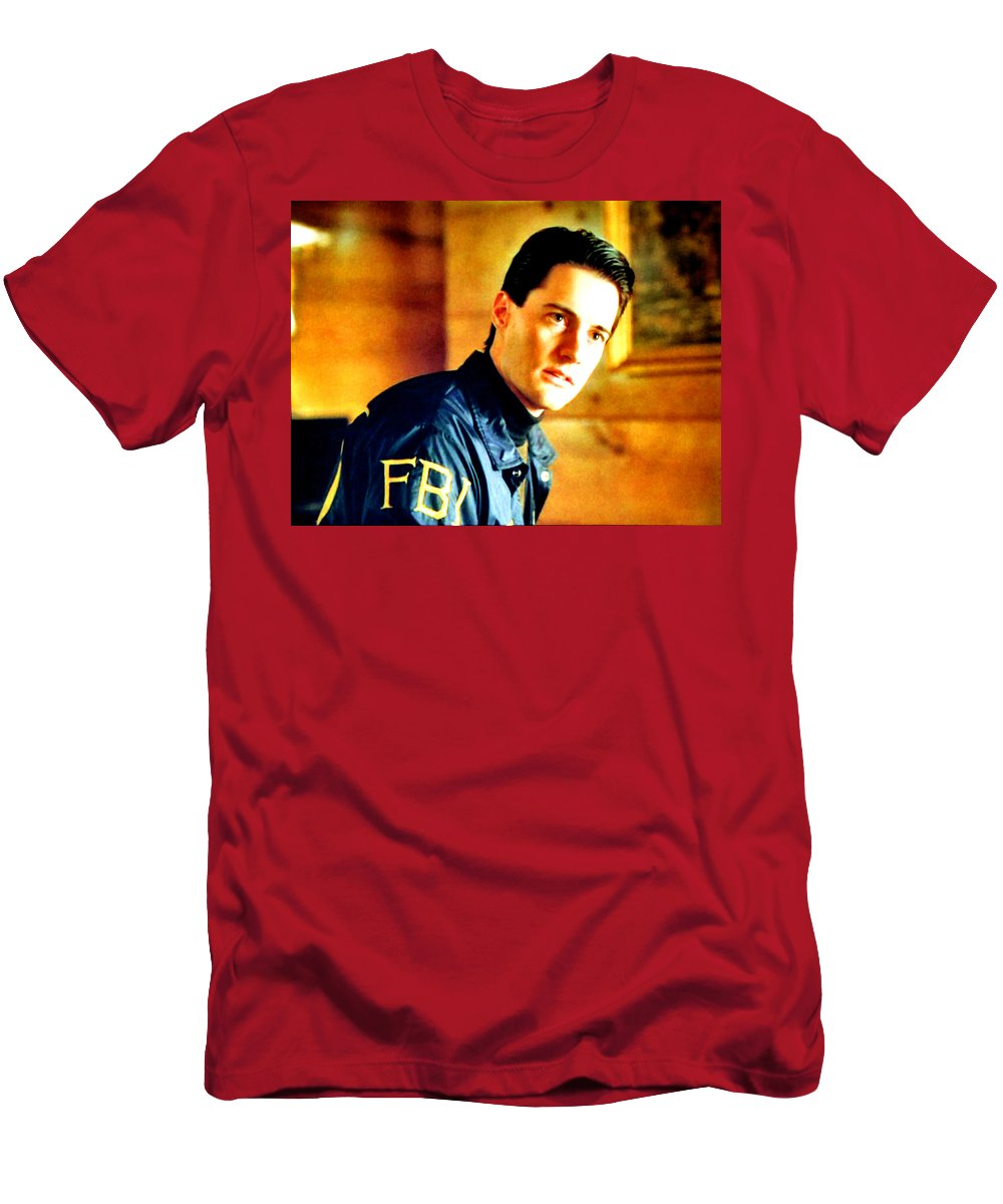 Laura Palmer Men's T-Shirt (Athletic Fit) featuring the painting Someone Who'll Listen by Luis Ludzska