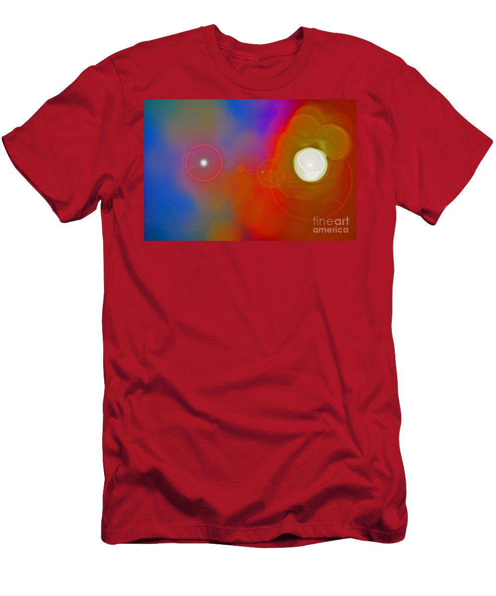 First Star Men's T-Shirt (Athletic Fit) featuring the mixed media Soul Birth Series Fertilization by First Star Art