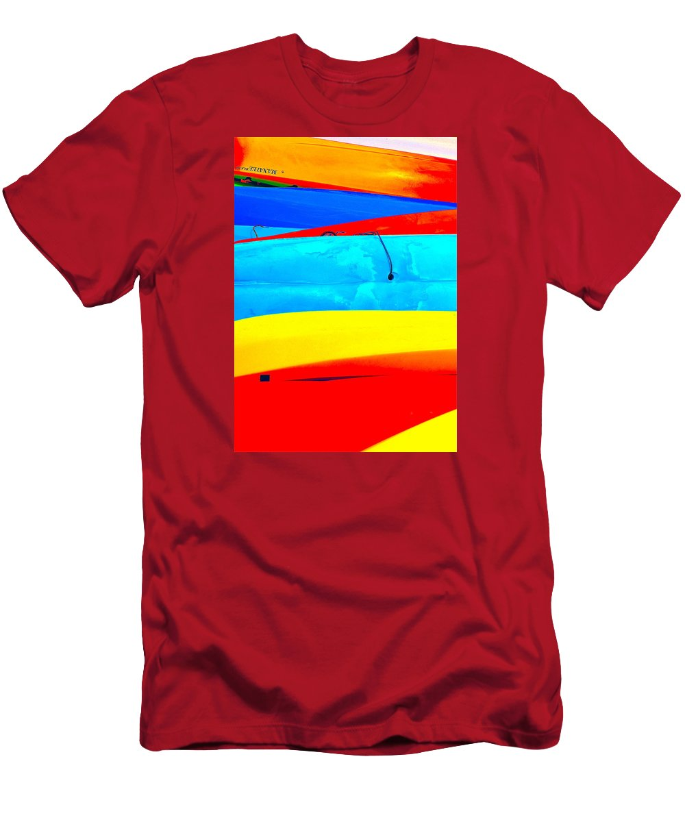Colorful Kayacs Men's T-Shirt (Athletic Fit) featuring the photograph Splash Of Fun by Ira Shander
