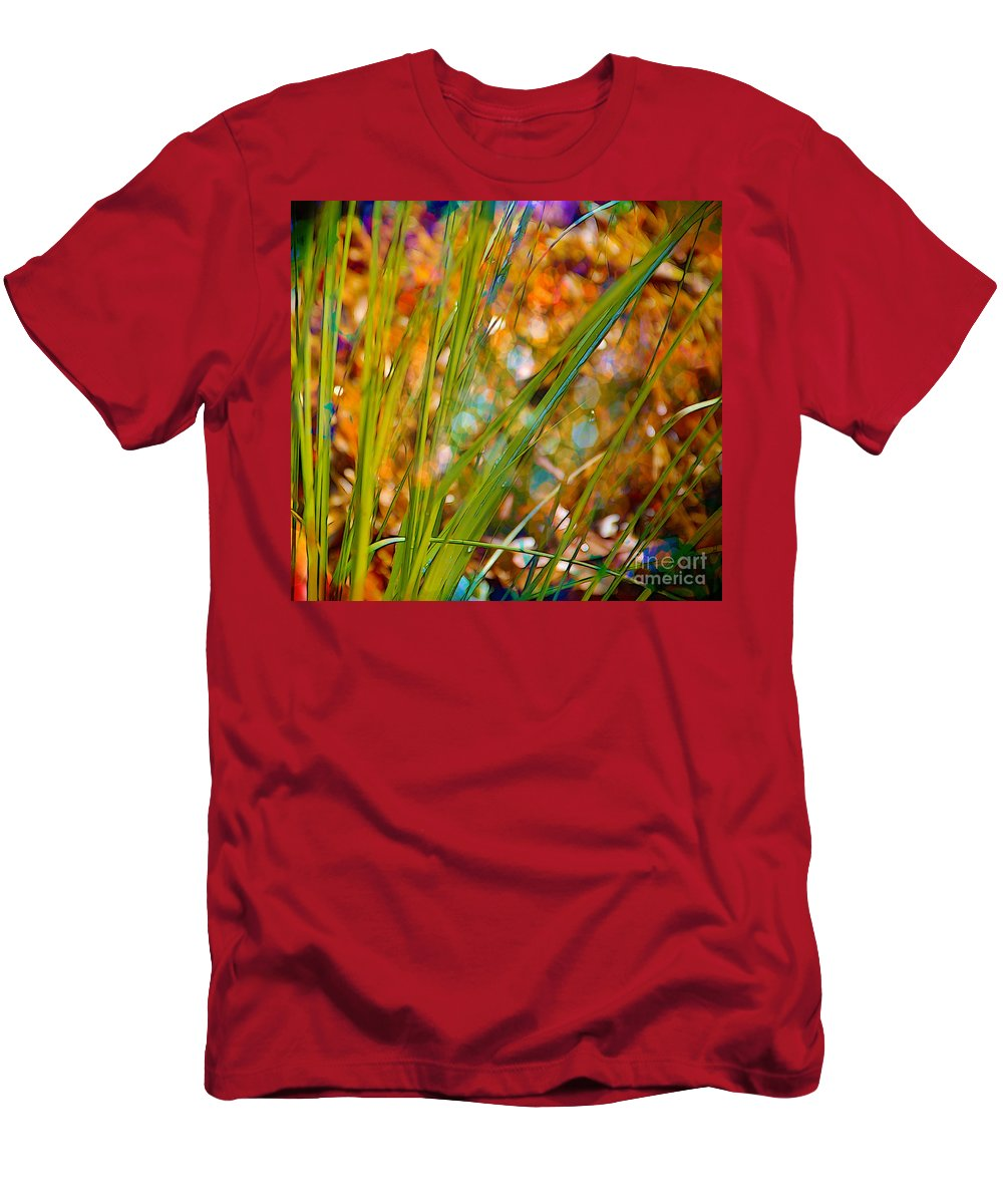 Grass Men's T-Shirt (Athletic Fit) featuring the photograph Splendor In The Grass by Judi Bagwell