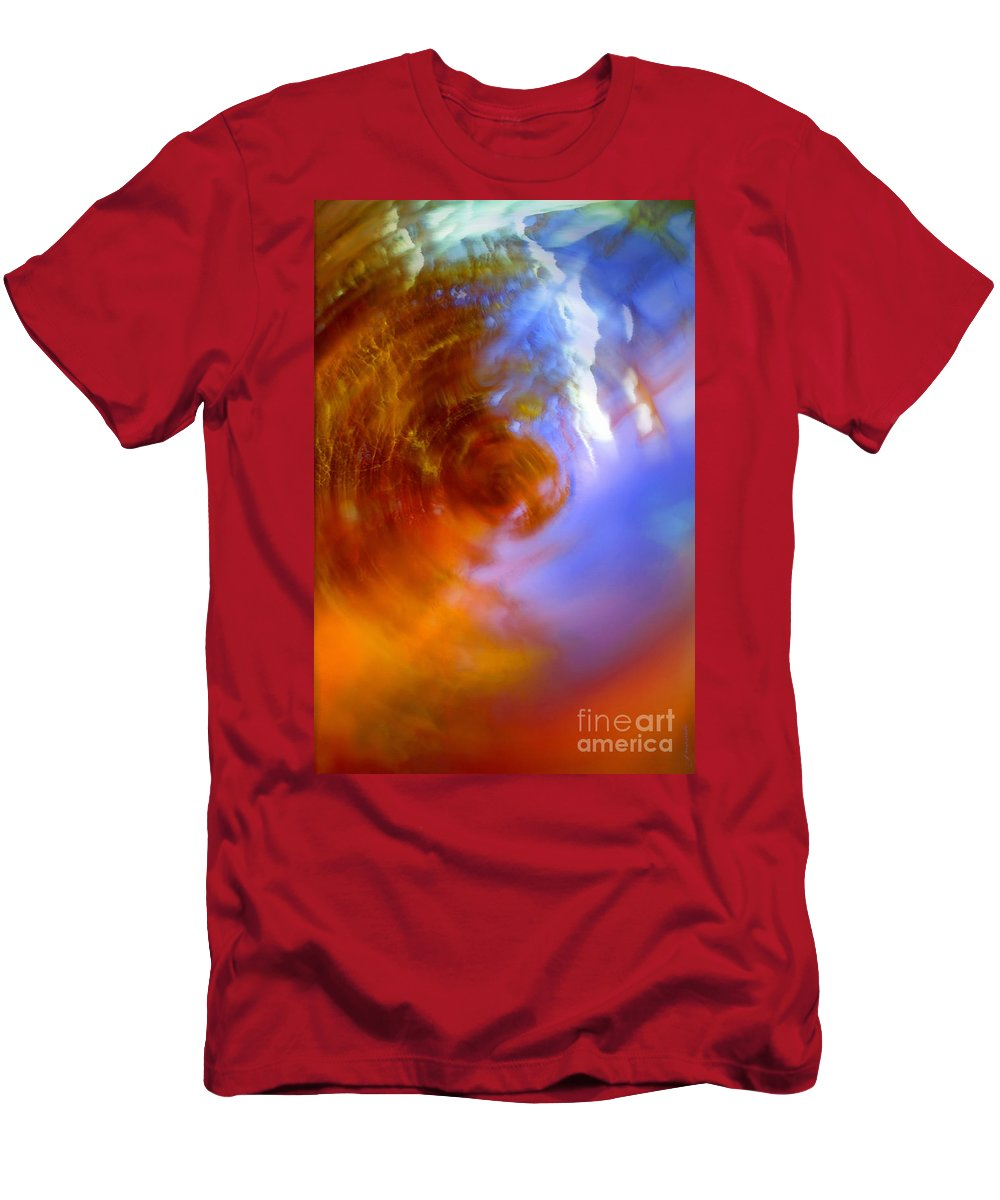 Blur Men's T-Shirt (Athletic Fit) featuring the photograph Spring Storms by Gwyn Newcombe