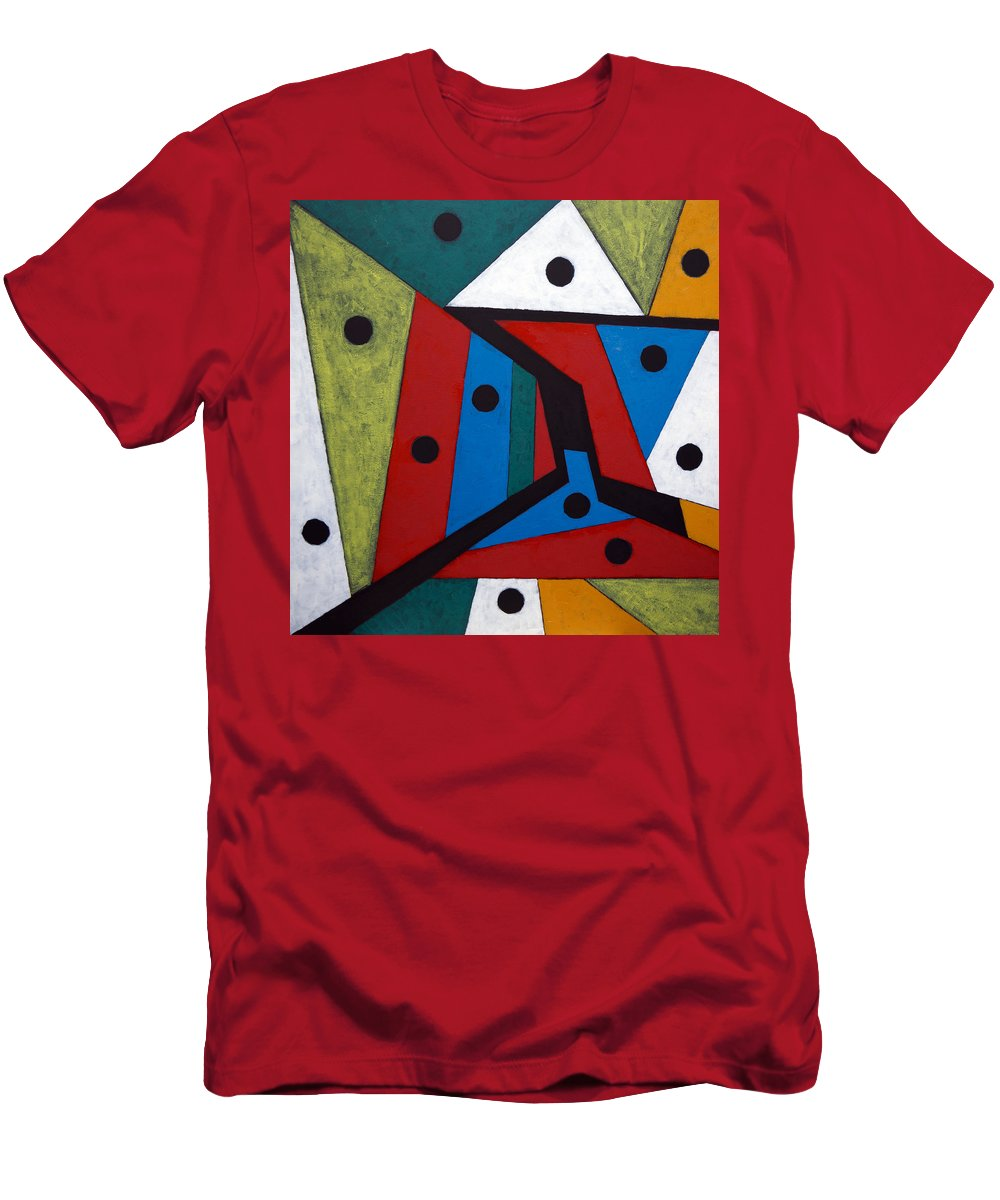 Acrylic T-Shirt featuring the painting Stars by Sergey Bezhinets