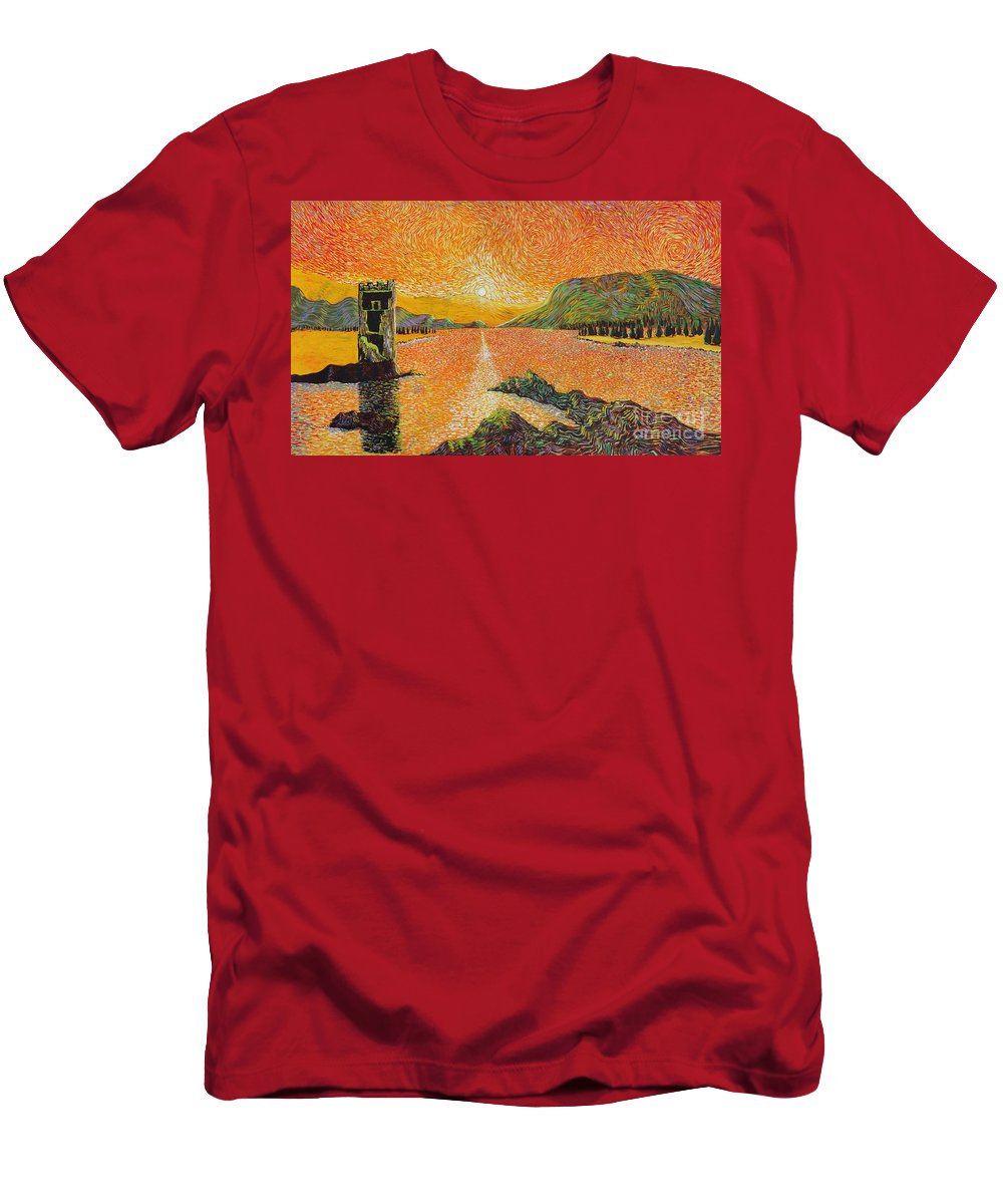 Landscape Men's T-Shirt (Athletic Fit) featuring the painting Still Standing by Stefan Duncan