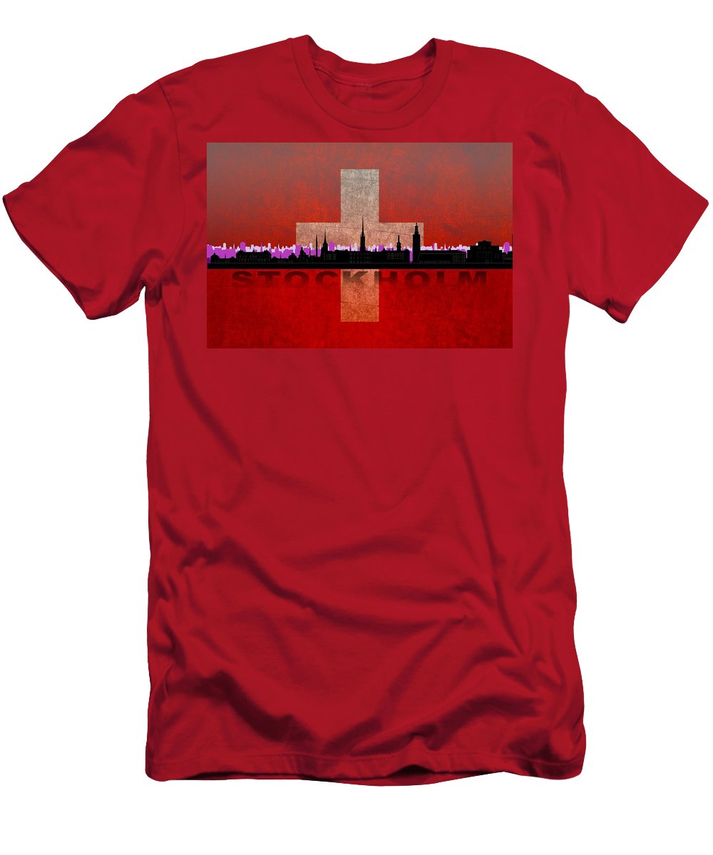 Architecture Men's T-Shirt (Athletic Fit) featuring the digital art Stockholm City by Don Kuing