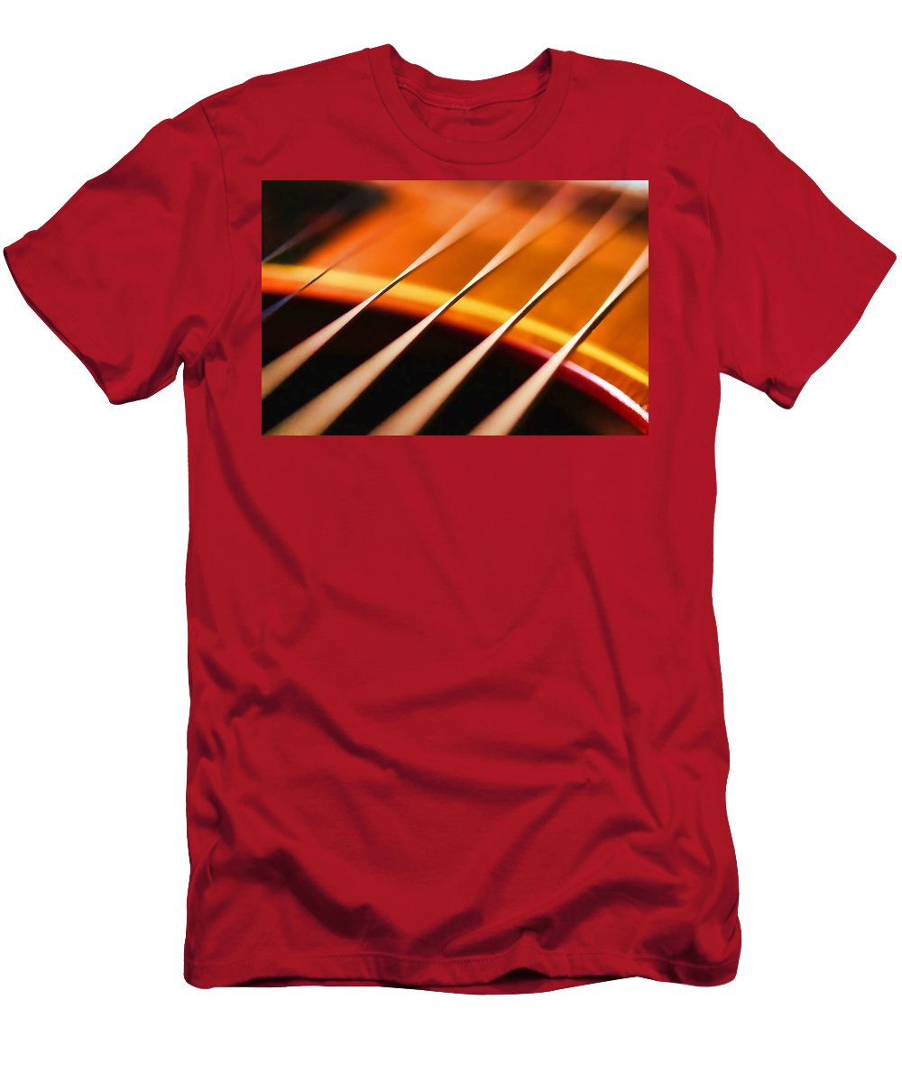 1961 Gibson Lg-2 Men's T-Shirt (Athletic Fit) featuring the photograph Strung Out by Hugh Stickney