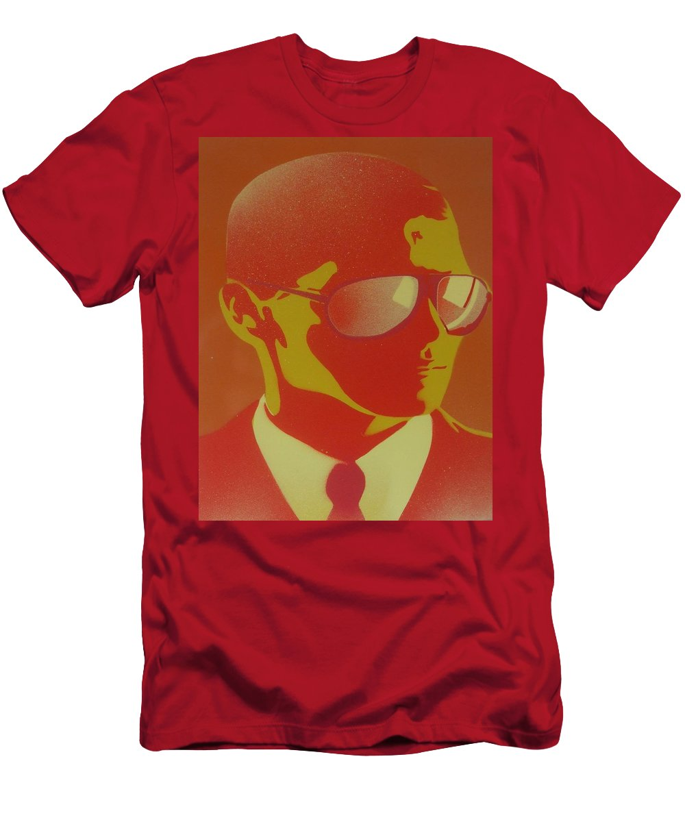 Glasses Men's T-Shirt (Athletic Fit) featuring the painting Suits by Leon Keay