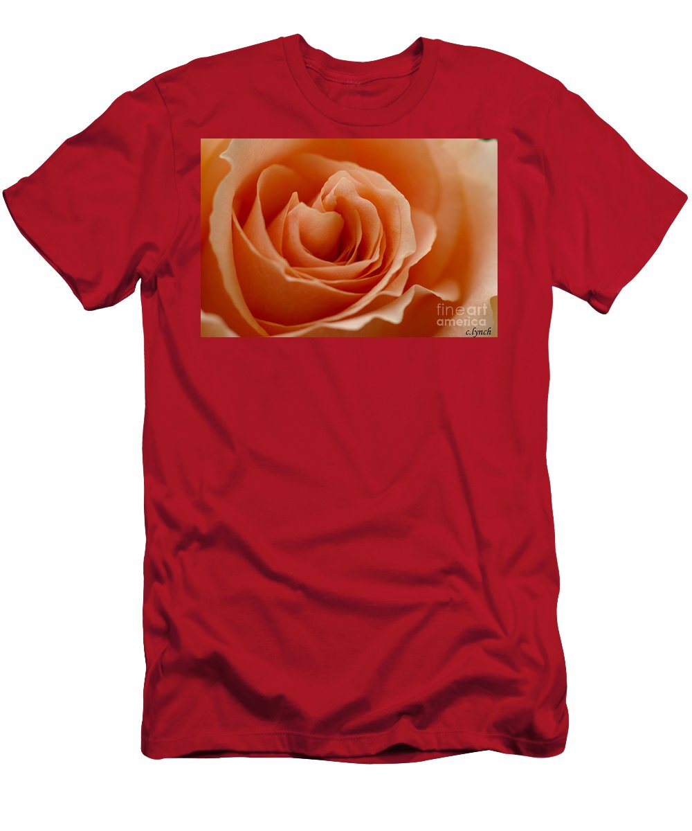 Peach Men's T-Shirt (Athletic Fit) featuring the photograph Summer Peach by Carol Lynch