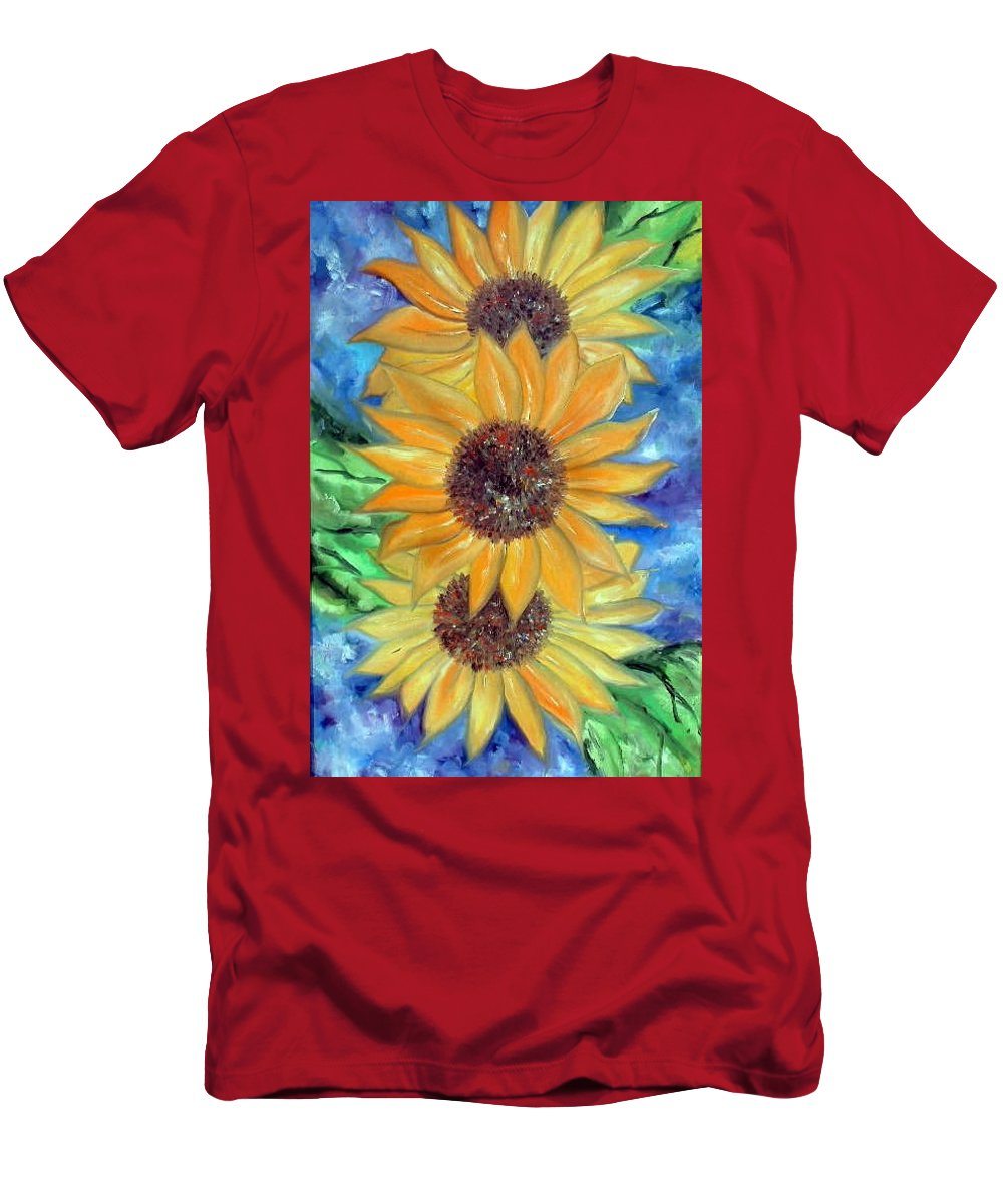 Flower Men's T-Shirt (Athletic Fit) featuring the painting Sun Flower II by Lord Frederick Lyle Morris