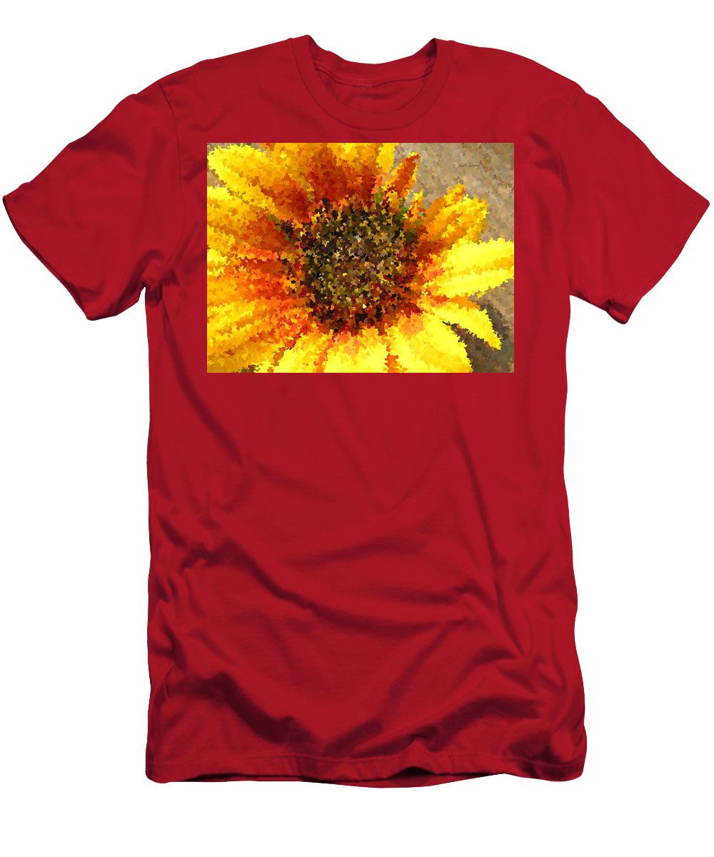 Sunflower Men's T-Shirt (Athletic Fit) featuring the photograph Sunflower Dream by Chris Berry