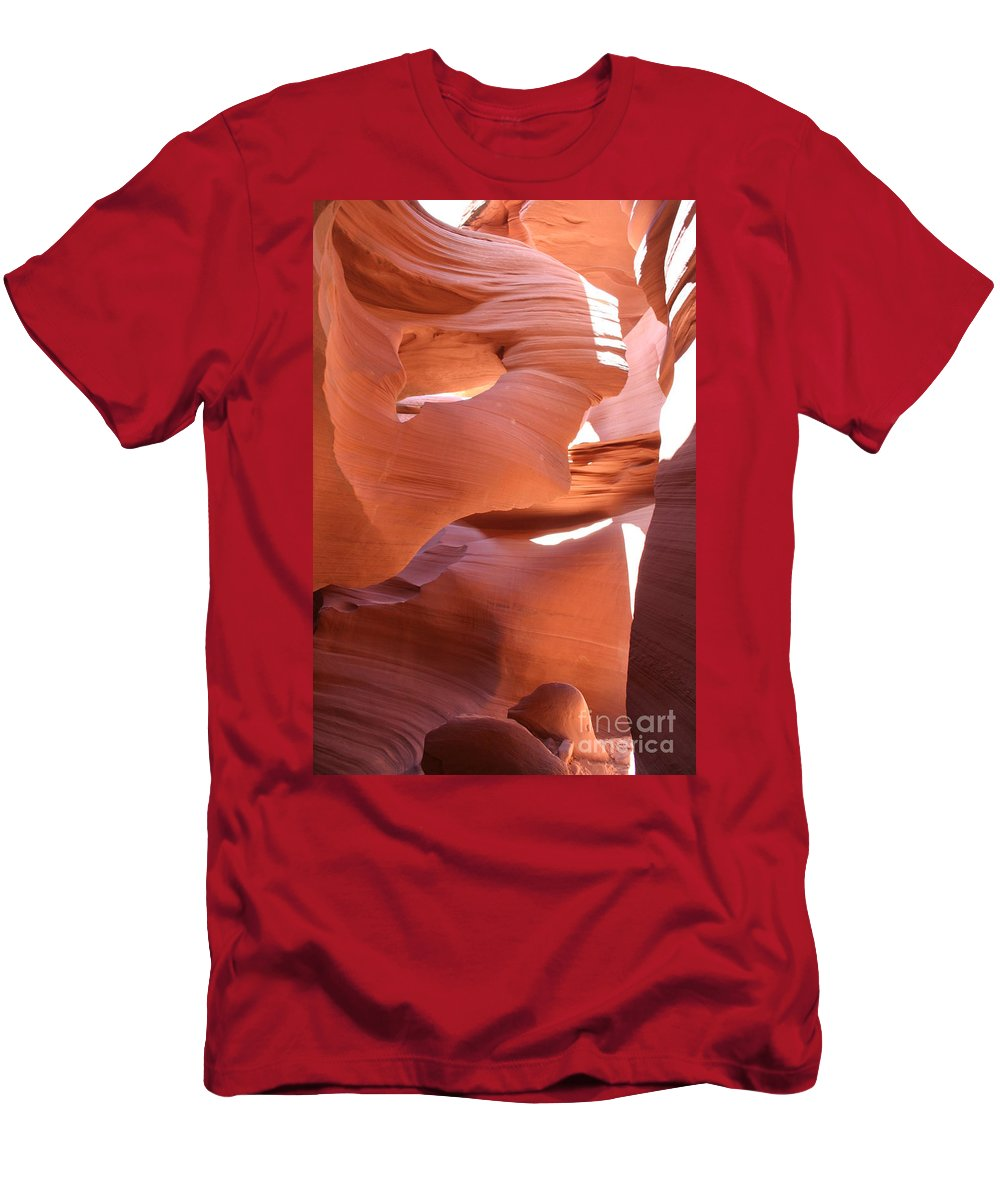Canyon Men's T-Shirt (Athletic Fit) featuring the photograph Sunlit Canyon by Christiane Schulze Art And Photography
