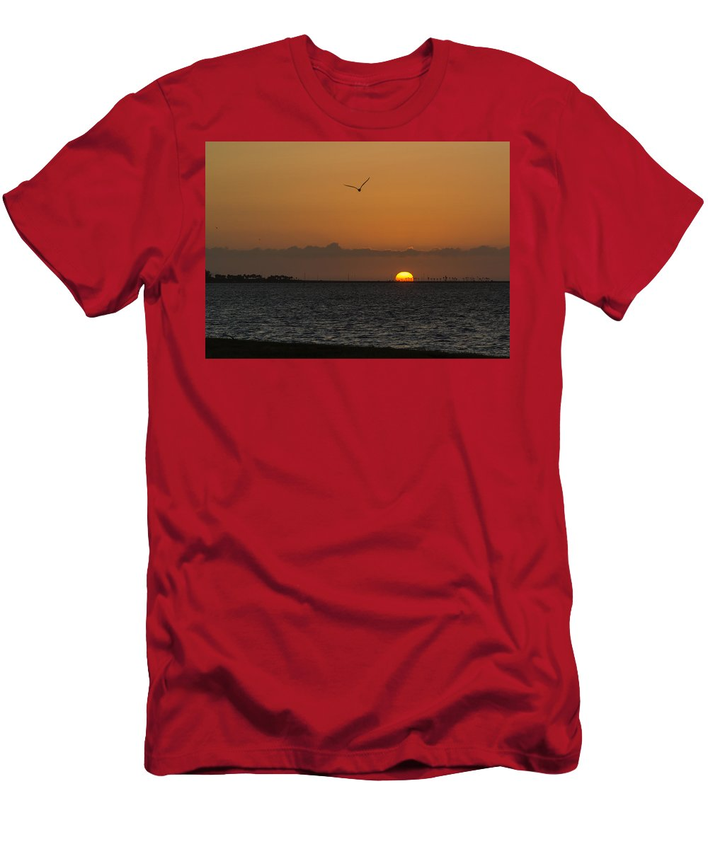 Florida Men's T-Shirt (Athletic Fit) featuring the photograph Sunrise by Jane Luxton