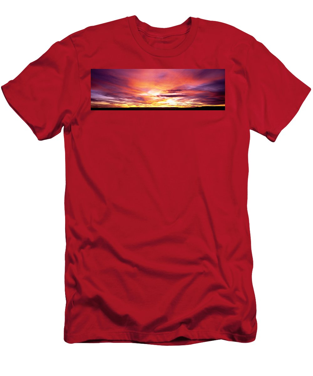Photography Men's T-Shirt (Athletic Fit) featuring the photograph Sunset, Canyon De Chelly, Arizona, Usa by Panoramic Images