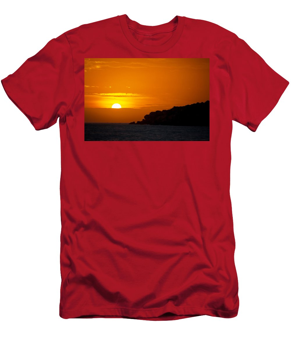 Sunset Men's T-Shirt (Athletic Fit) featuring the photograph Sunset In Northern Colombia by Jess Kraft