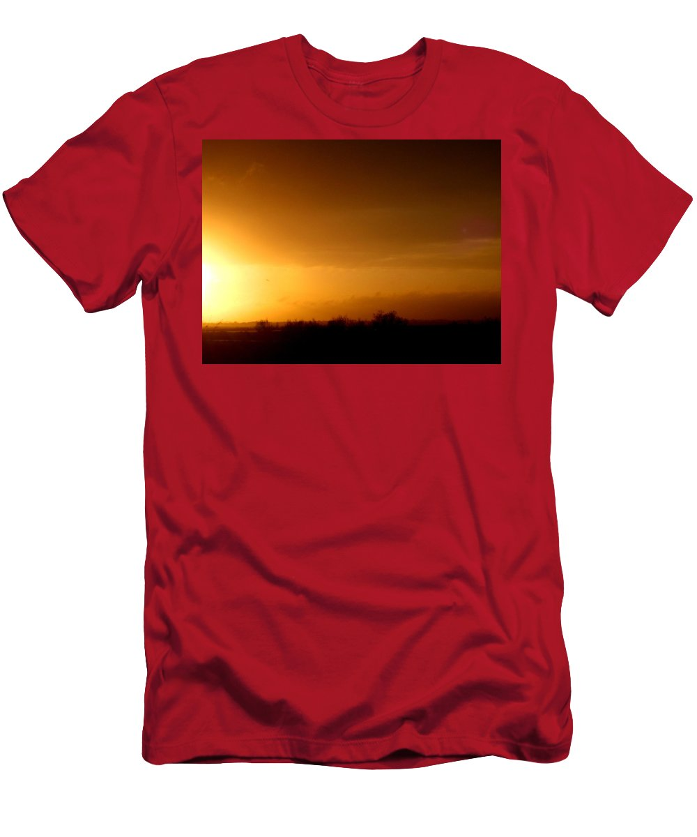 Photograph Men's T-Shirt (Athletic Fit) featuring the photograph Sunset In The South Of France by Cristina Stefan