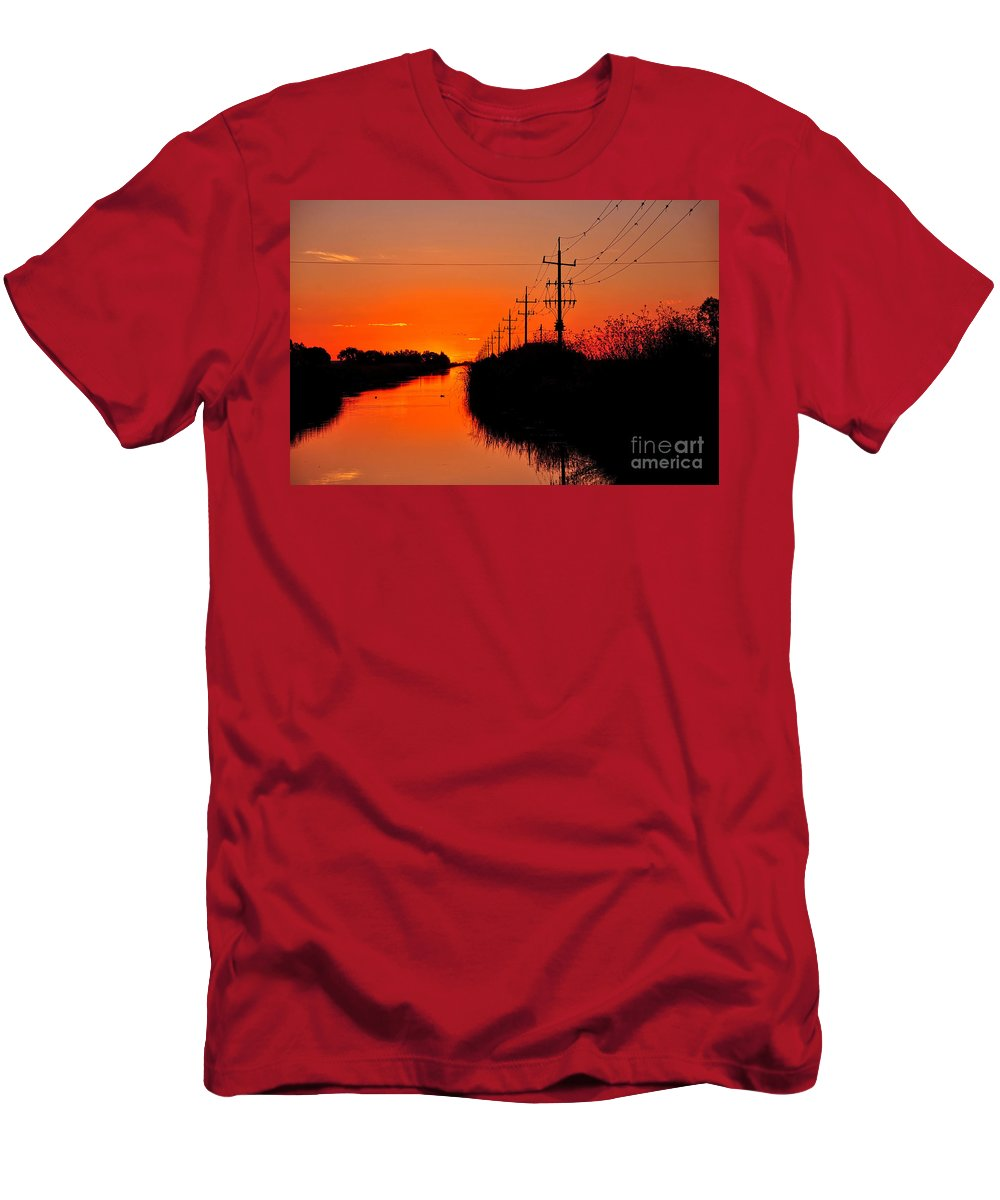 Photography Men's T-Shirt (Athletic Fit) featuring the photograph Sunset Silhouette by Kaye Menner