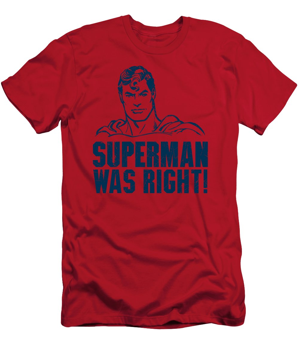 T-Shirt featuring the digital art Superman - Was Right by Brand A
