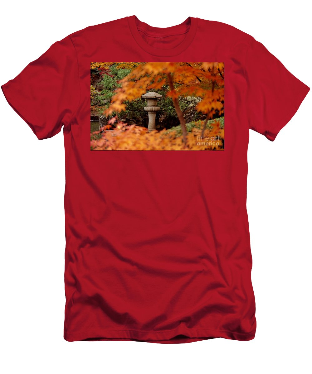 Fall Men's T-Shirt (Athletic Fit) featuring the photograph Surrounded By Fall by Sharon Elliott