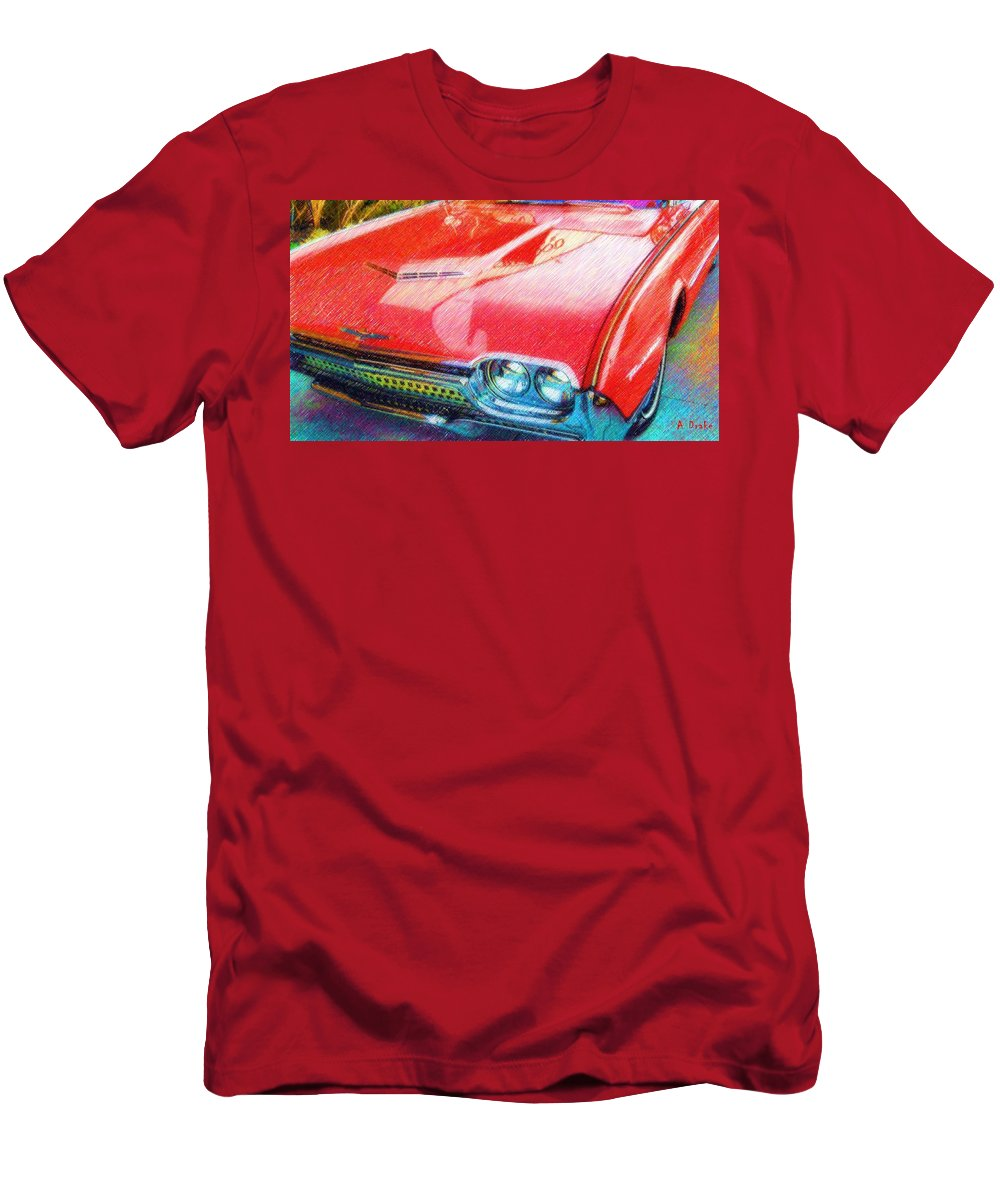 1962 Men's T-Shirt (Athletic Fit) featuring the digital art T-bird Dream by Alec Drake
