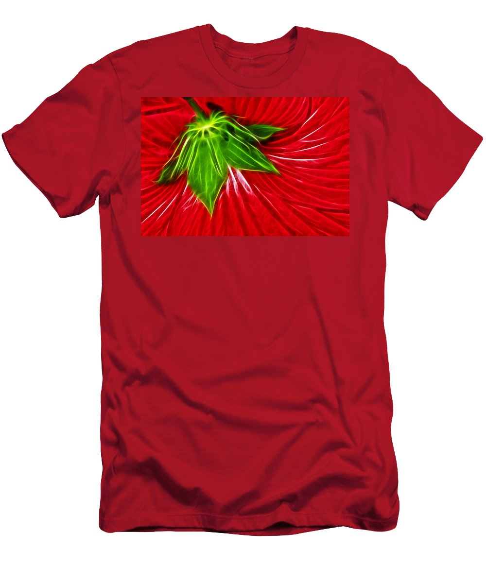 Hibiscus Men's T-Shirt (Athletic Fit) featuring the photograph Taken Back by Shane Bechler
