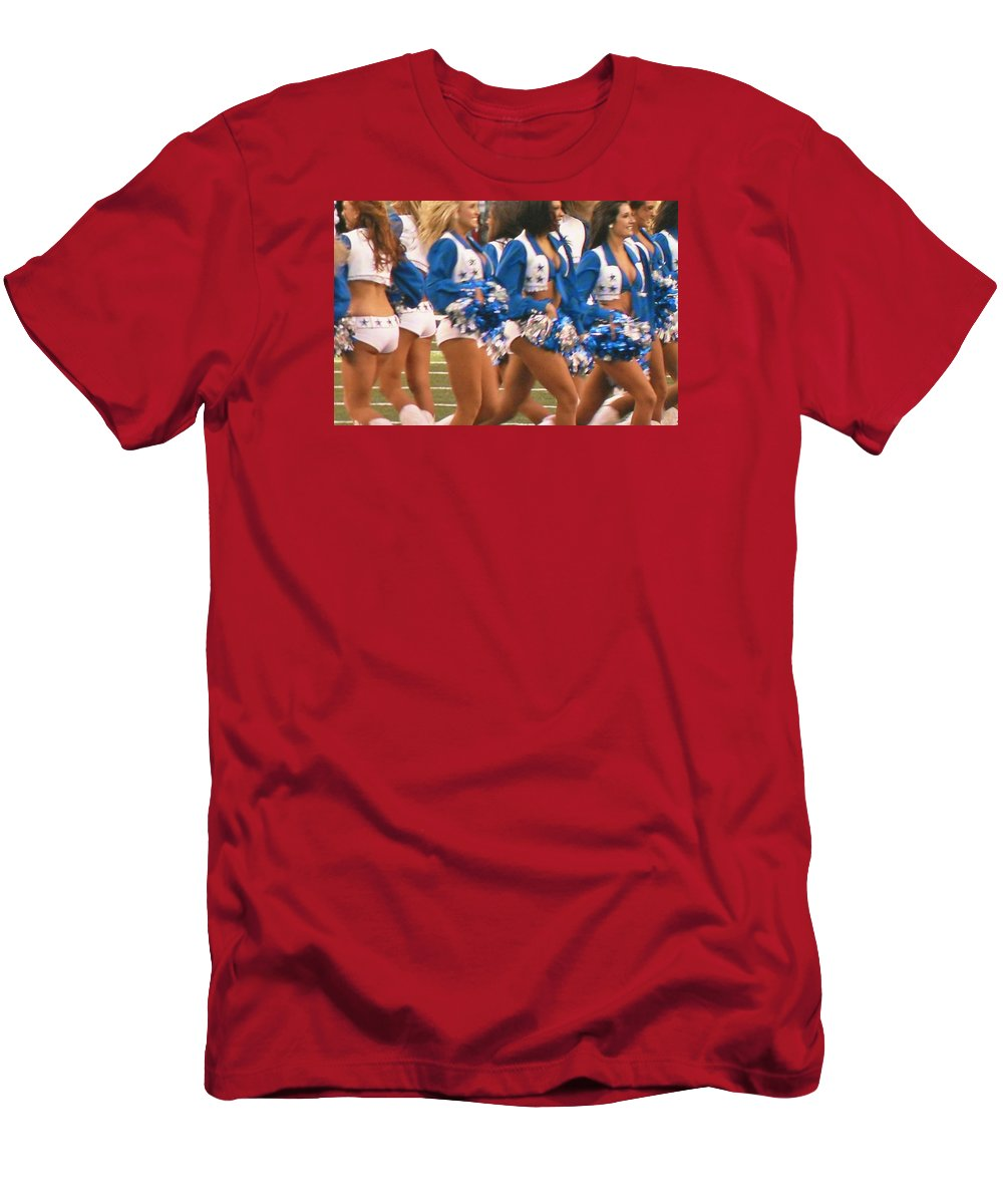 The Dallas Cowboys Cheerleaders Men s T-Shirt (Athletic Fit) featuring the  photograph The 20cfbe737