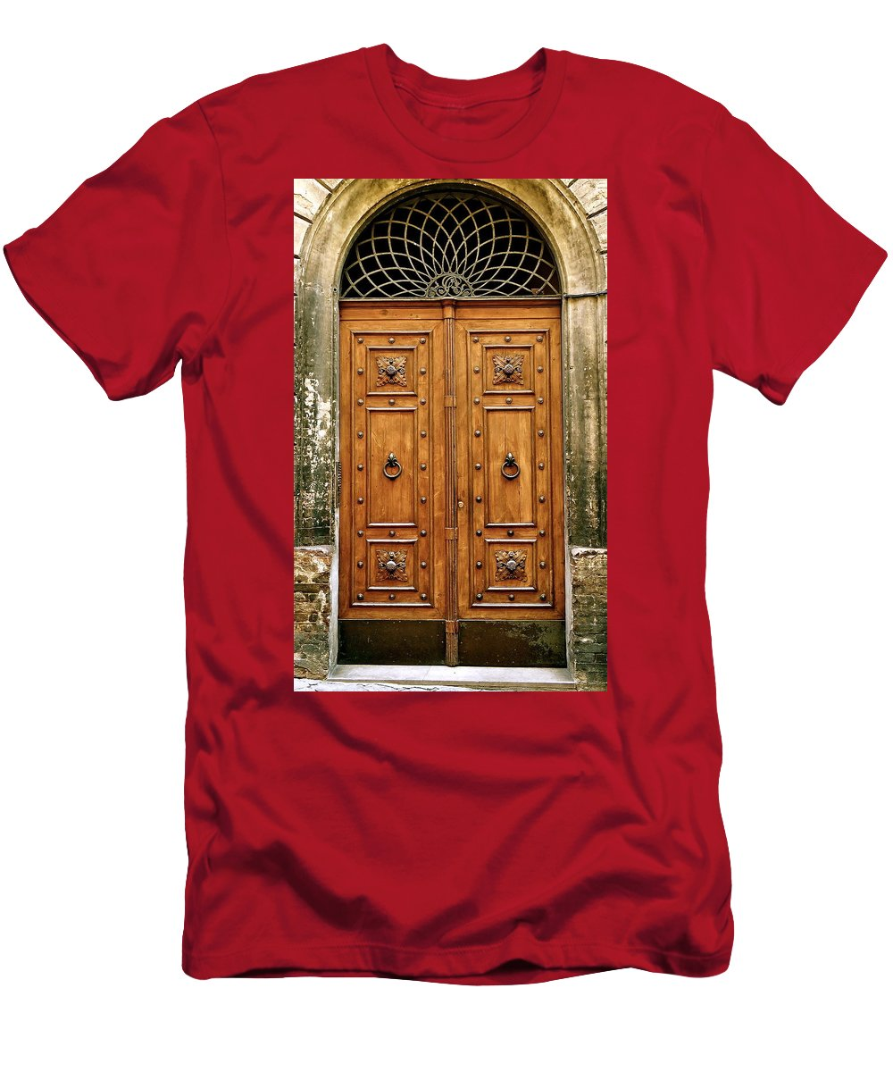 Tuscany Men's T-Shirt (Athletic Fit) featuring the photograph The Entrance To Tuscany by Ira Shander