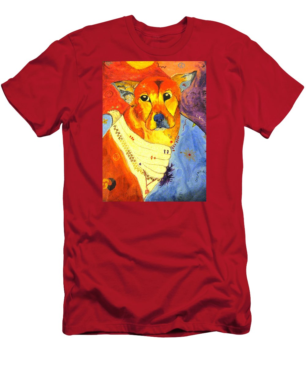 The Heart That Rescues T-Shirt featuring the painting The Heart That Rescues by Michelle Reid