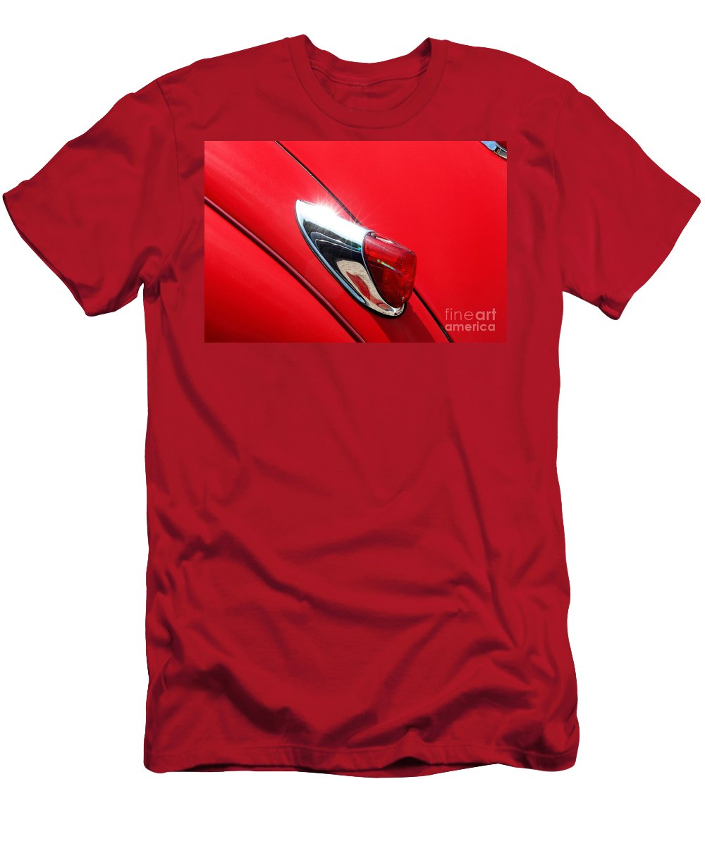 Car Men's T-Shirt (Athletic Fit) featuring the photograph The Red Jag by Brothers Beerens