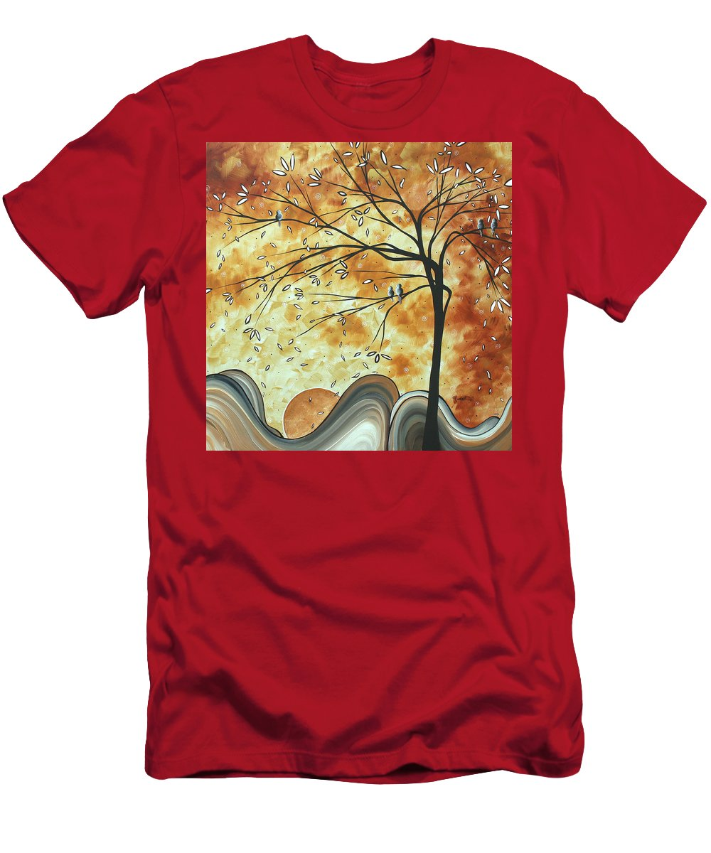 Original Men's T-Shirt (Athletic Fit) featuring the painting The Resting Place By Madart by Megan Duncanson