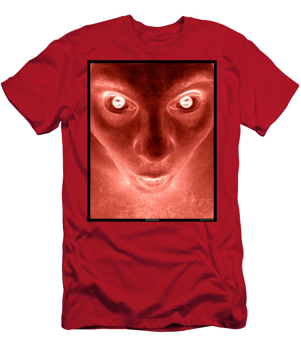 Spooky Men's T-Shirt (Athletic Fit) featuring the photograph The Seventh Son by Gene Tatroe