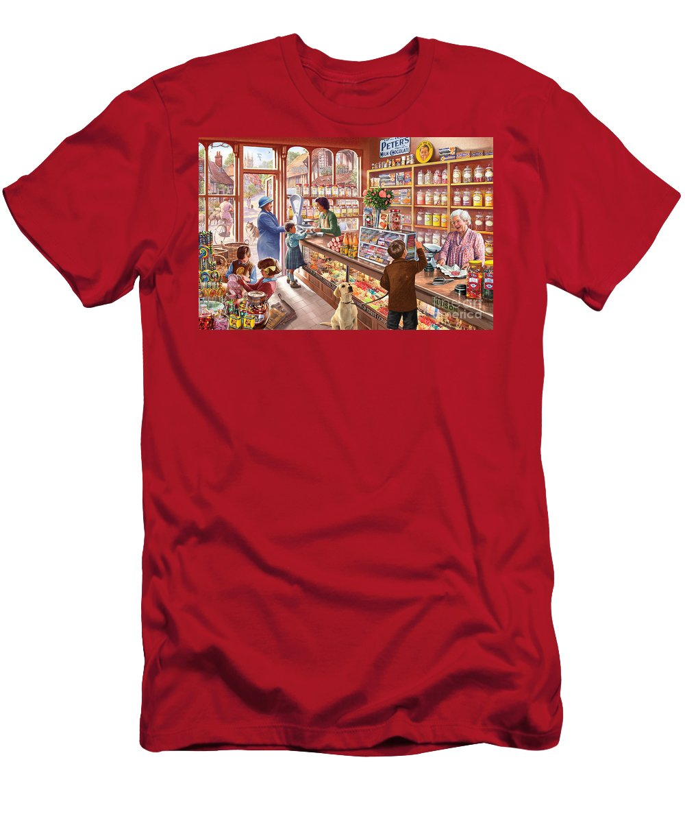 Windows Men's T-Shirt (Athletic Fit) featuring the digital art The Sweetshop by Steve Crisp