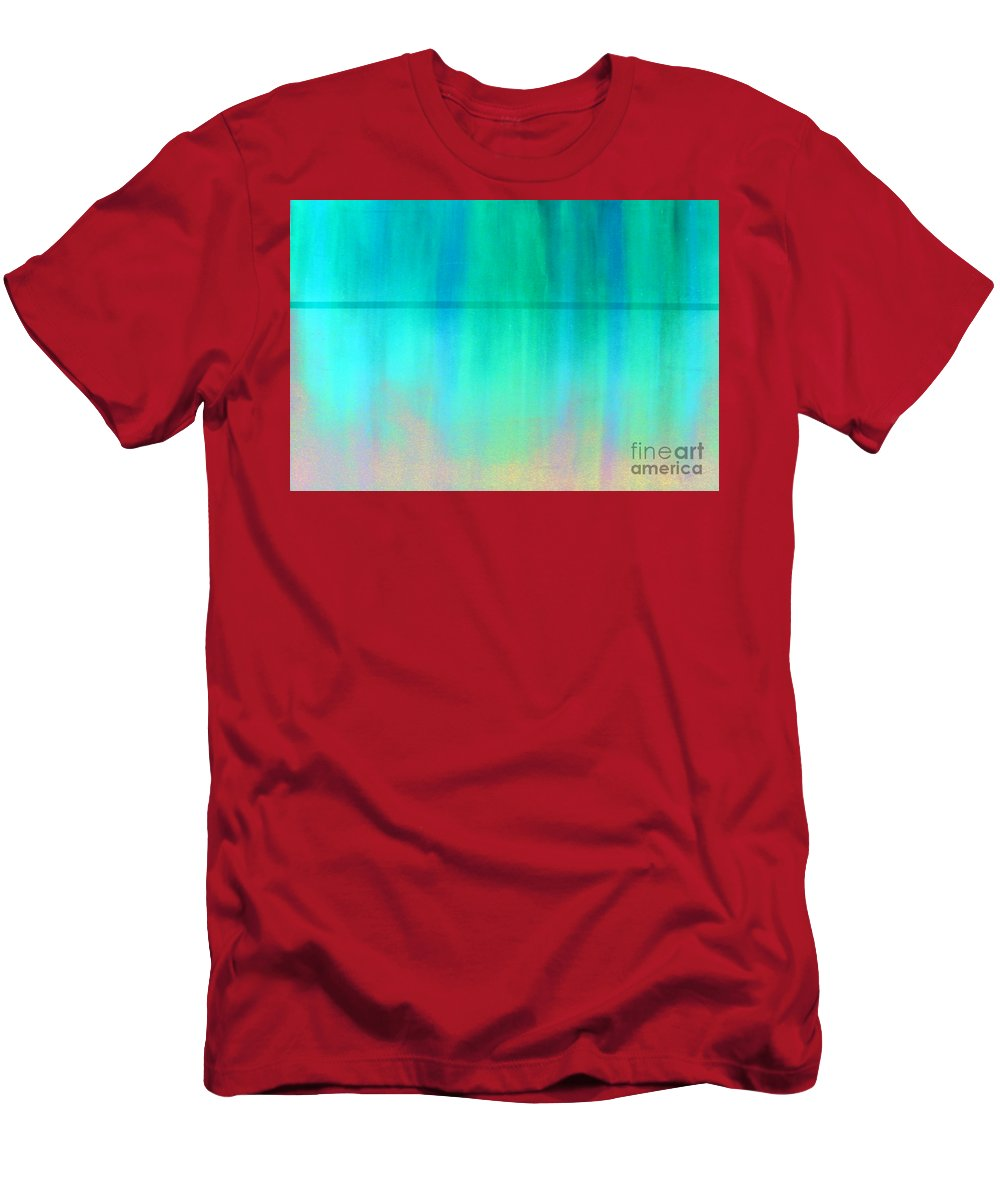 Abstract Men's T-Shirt (Athletic Fit) featuring the painting The Thin Red Line by Albert Puskaric