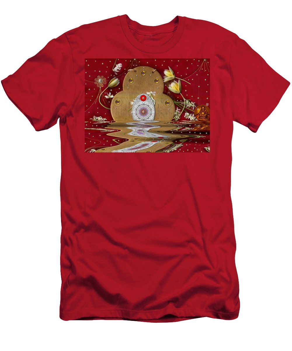Landscape Men's T-Shirt (Athletic Fit) featuring the mixed media The Way To Heavens Gate by Pepita Selles