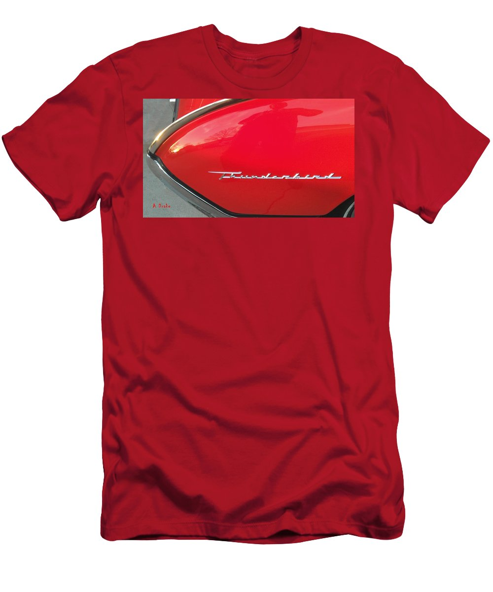 1962 Men's T-Shirt (Athletic Fit) featuring the digital art Thunderbird Roads by Alec Drake