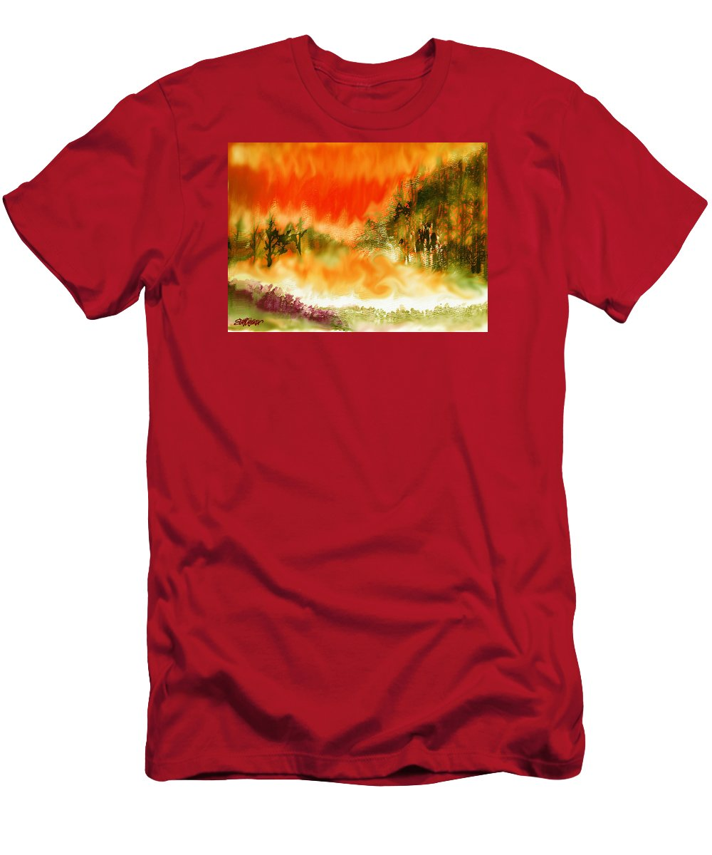 Timber Blaze T-Shirt featuring the mixed media Timber Blaze by Seth Weaver