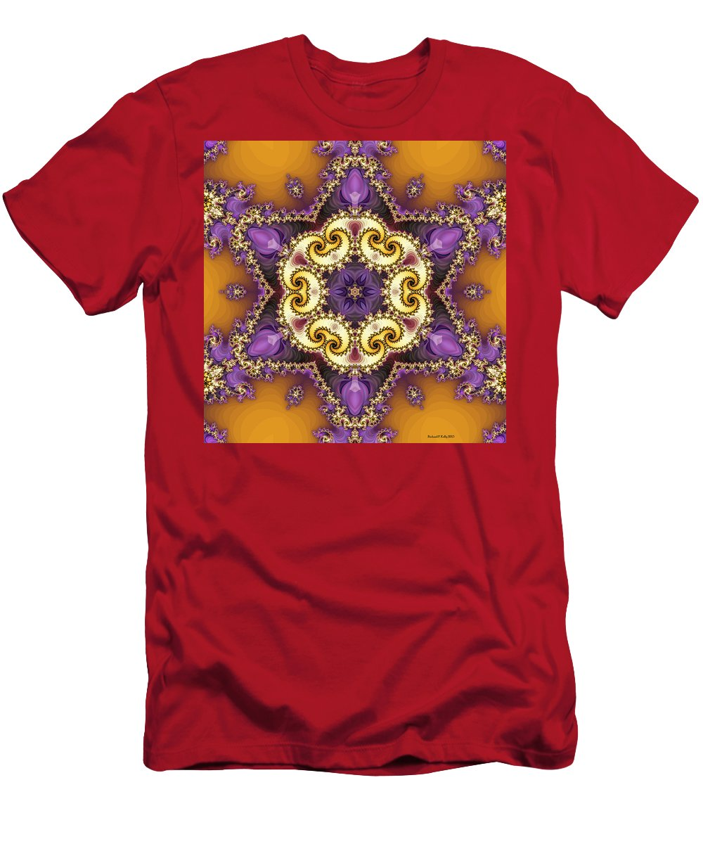 Fractal Men's T-Shirt (Athletic Fit) featuring the digital art Tira by Richard Kelly