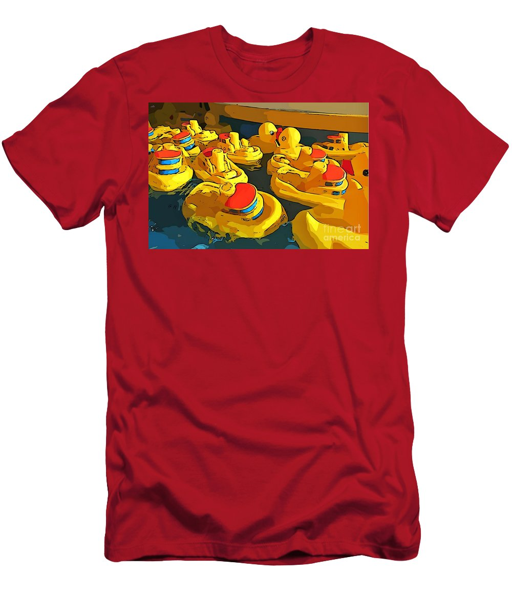 Traffic Jam Men's T-Shirt (Athletic Fit) featuring the painting Traffic Jam by John Malone