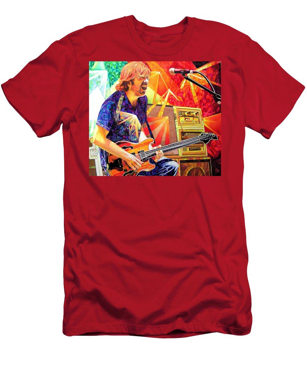 Trey Anastasio Men's T-Shirt (Athletic Fit) featuring the drawing Trey Anastasio Squared by Joshua Morton