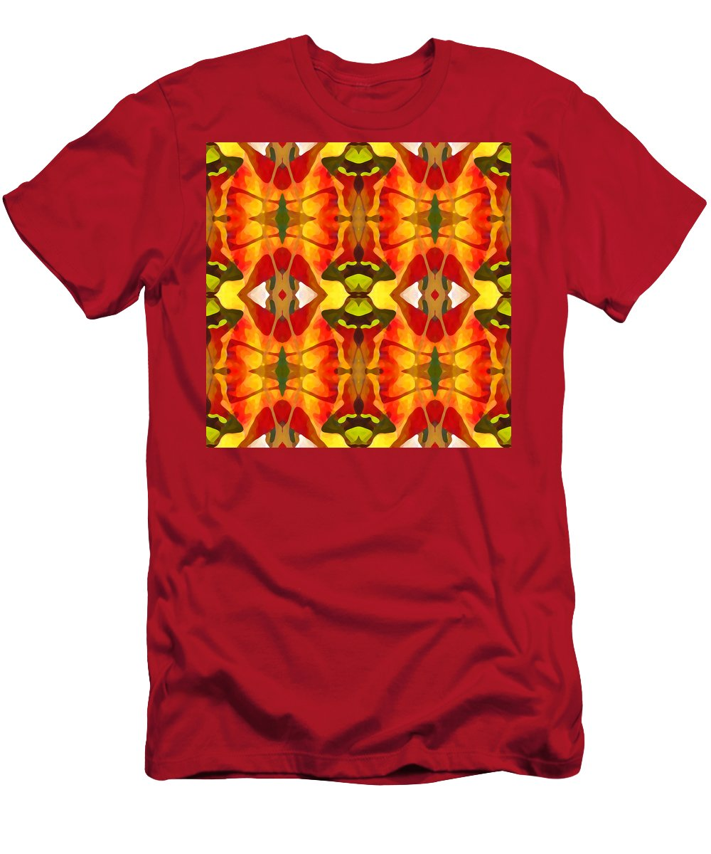 Abstract Men's T-Shirt (Athletic Fit) featuring the painting Tropical Leaf Pattern 2 by Amy Vangsgard