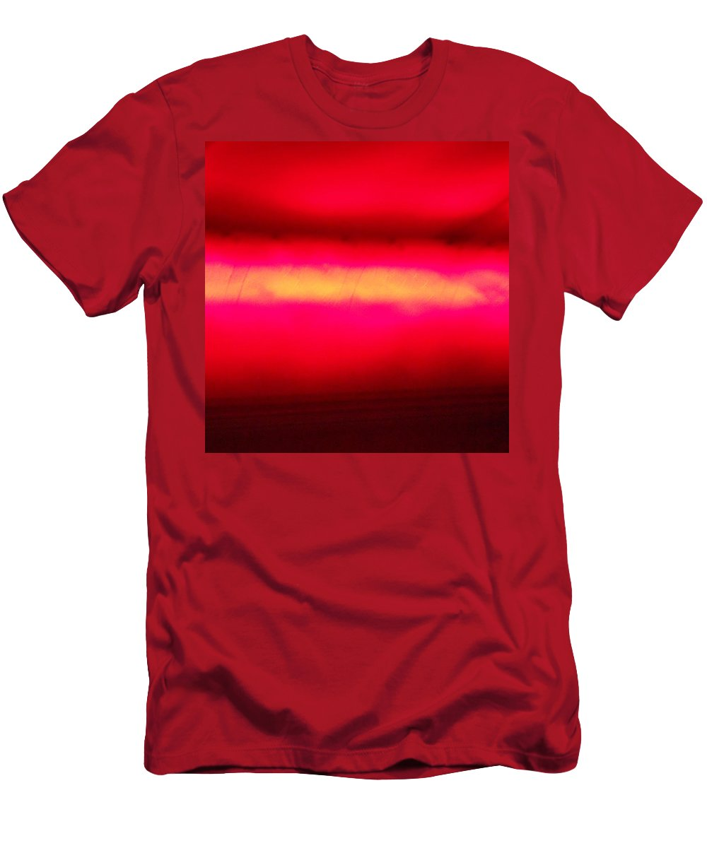 Red Men's T-Shirt (Athletic Fit) featuring the painting Glossy Red by Dotti Hannum
