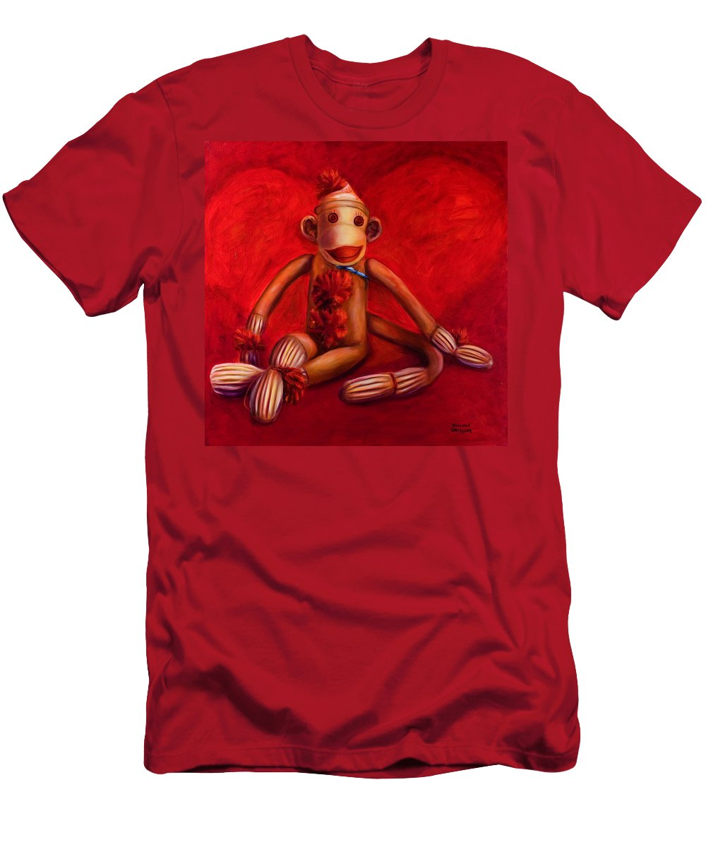 Children Men's T-Shirt (Athletic Fit) featuring the painting Valentine by Shannon Grissom