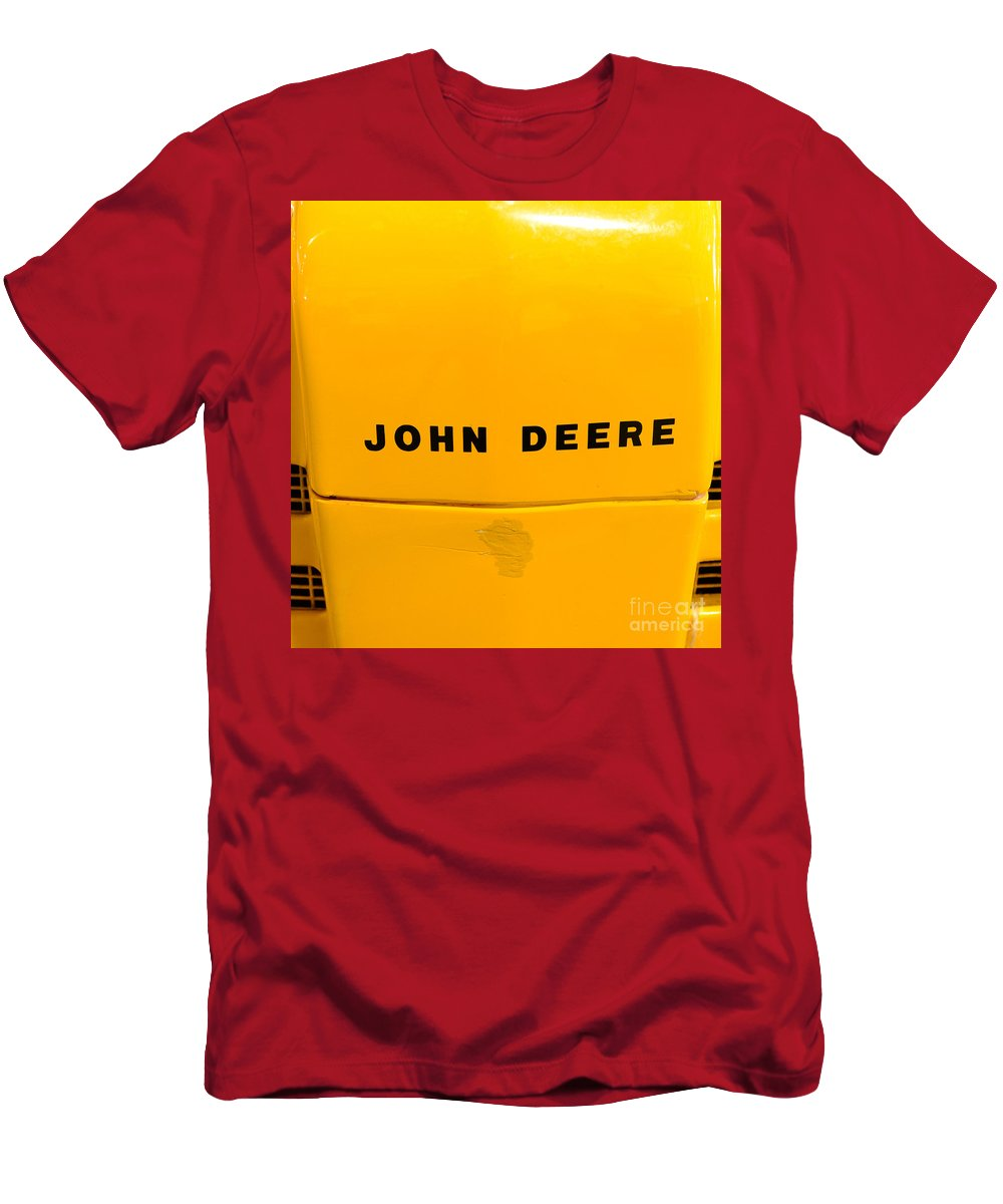 Paul Ward T-Shirt featuring the photograph Vintage 1952 John Deere Tractor In Yellow by Paul Ward