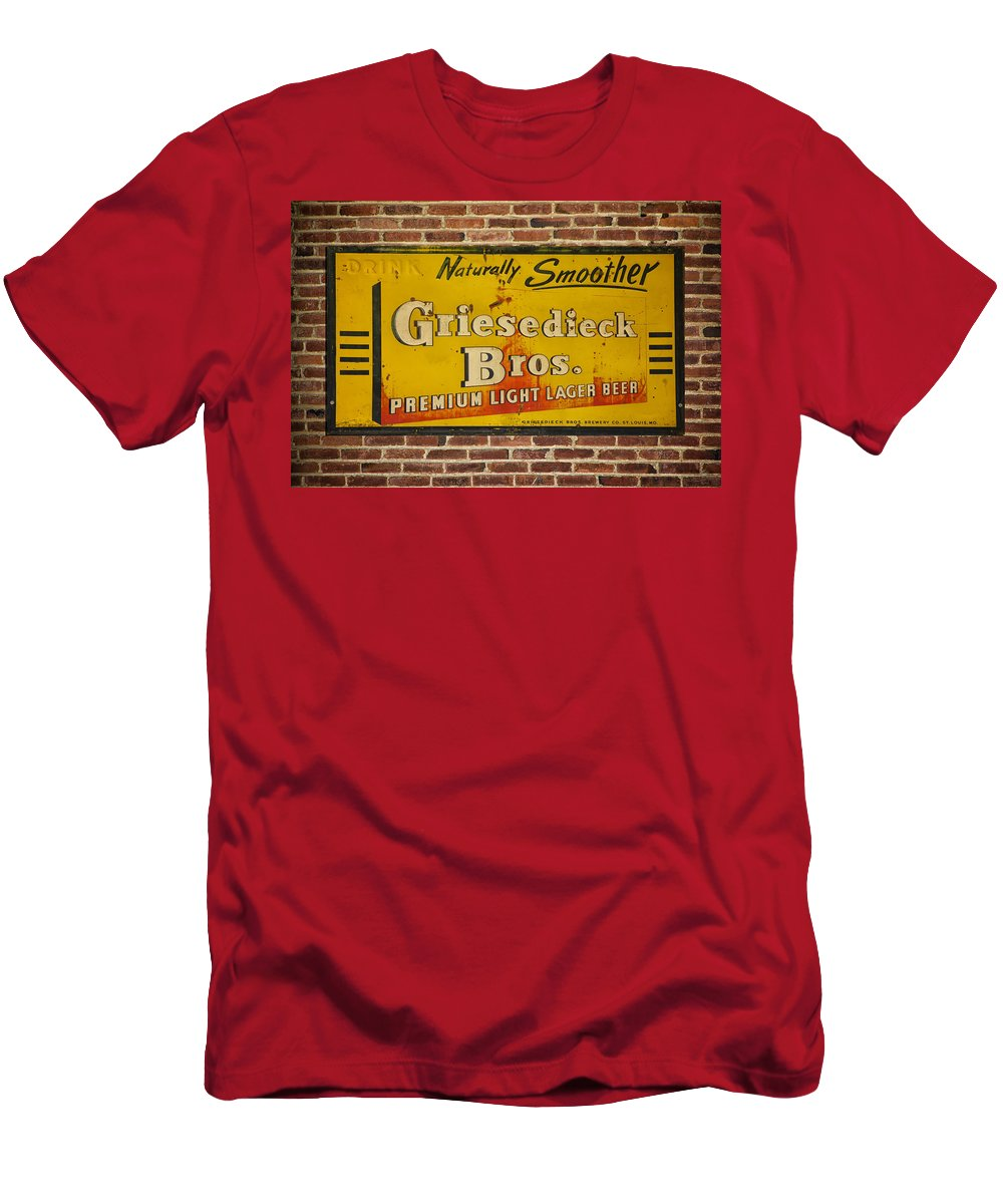 ac750a209 Beer Men's T-Shirt (Athletic Fit) featuring the photograph Vintage  Griesedieck Bros Beer