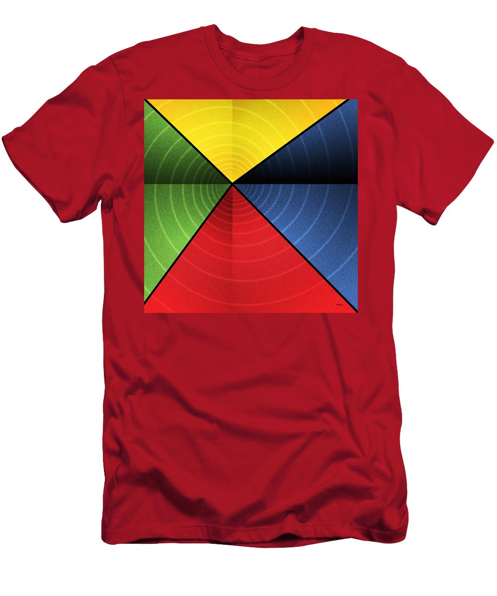 Abstract Men's T-Shirt (Athletic Fit) featuring the digital art Vortex by James Kramer