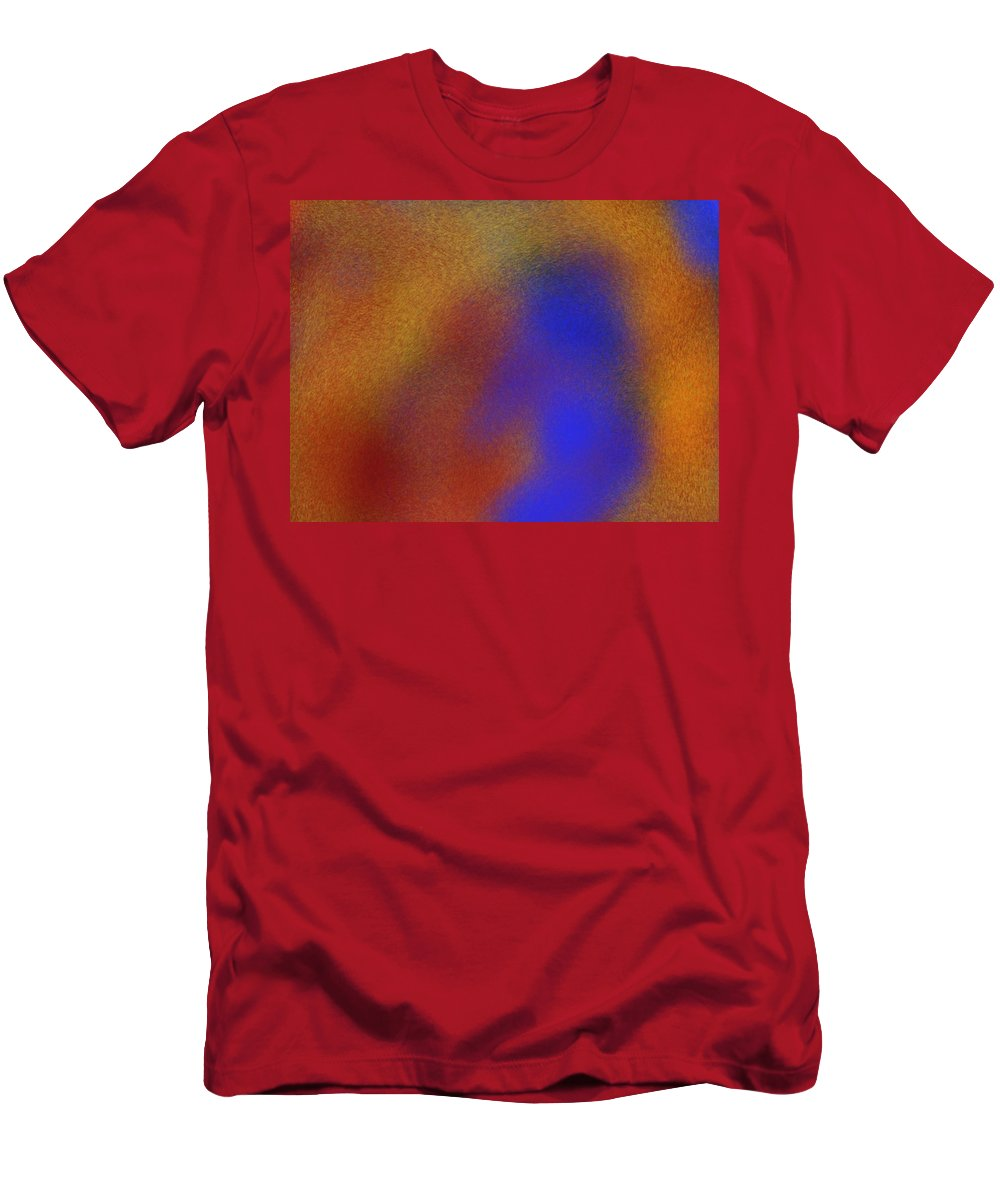 Warm Men's T-Shirt (Athletic Fit) featuring the painting Warmth by Bill Minkowitz
