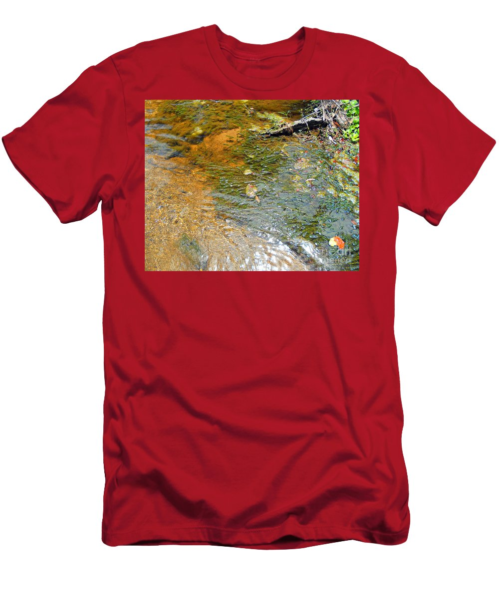 River Men's T-Shirt (Athletic Fit) featuring the photograph Water Plants 2 by Nancy L Marshall