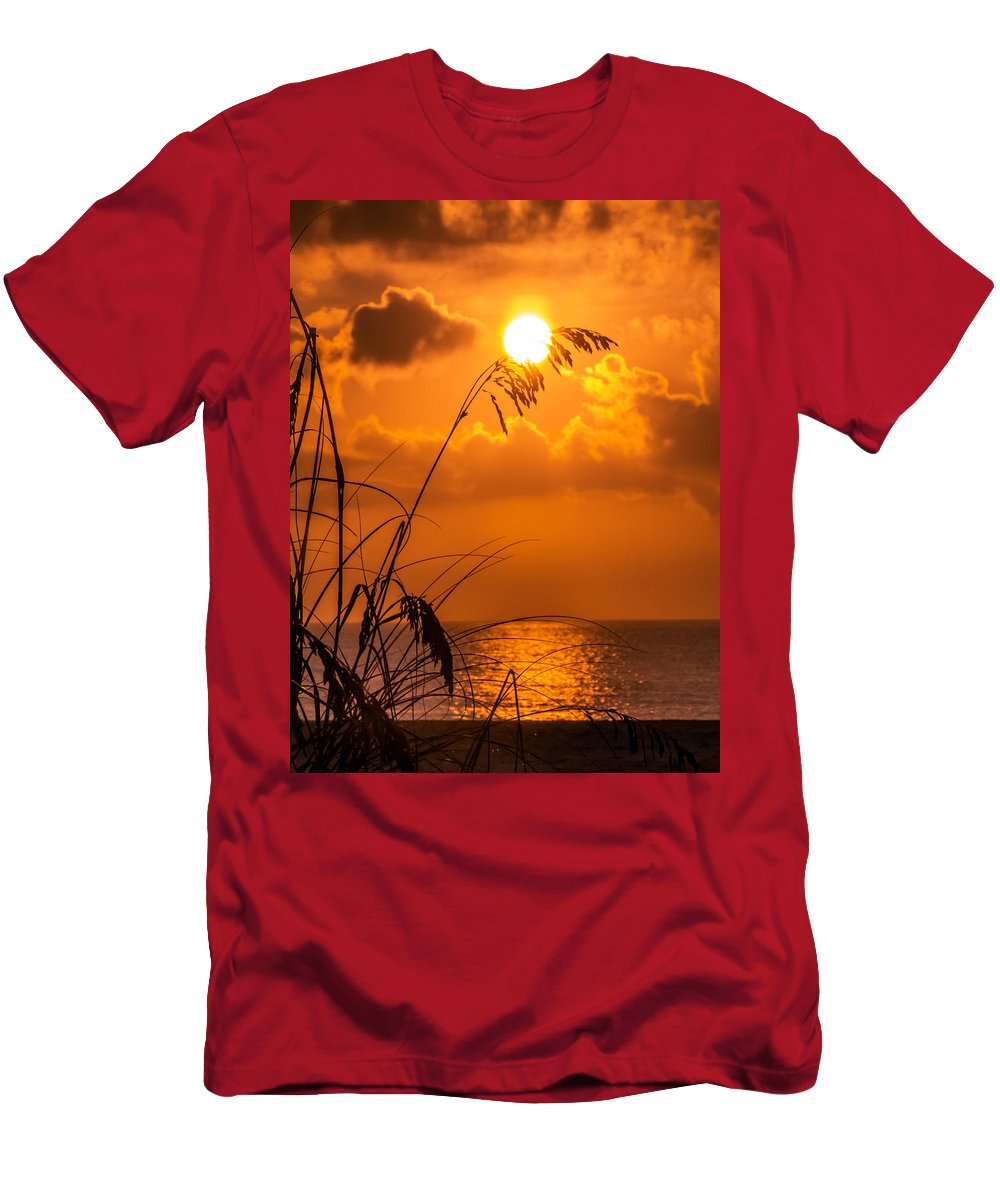 Sunrise Men's T-Shirt (Athletic Fit) featuring the photograph Way To Go by Zina Stromberg