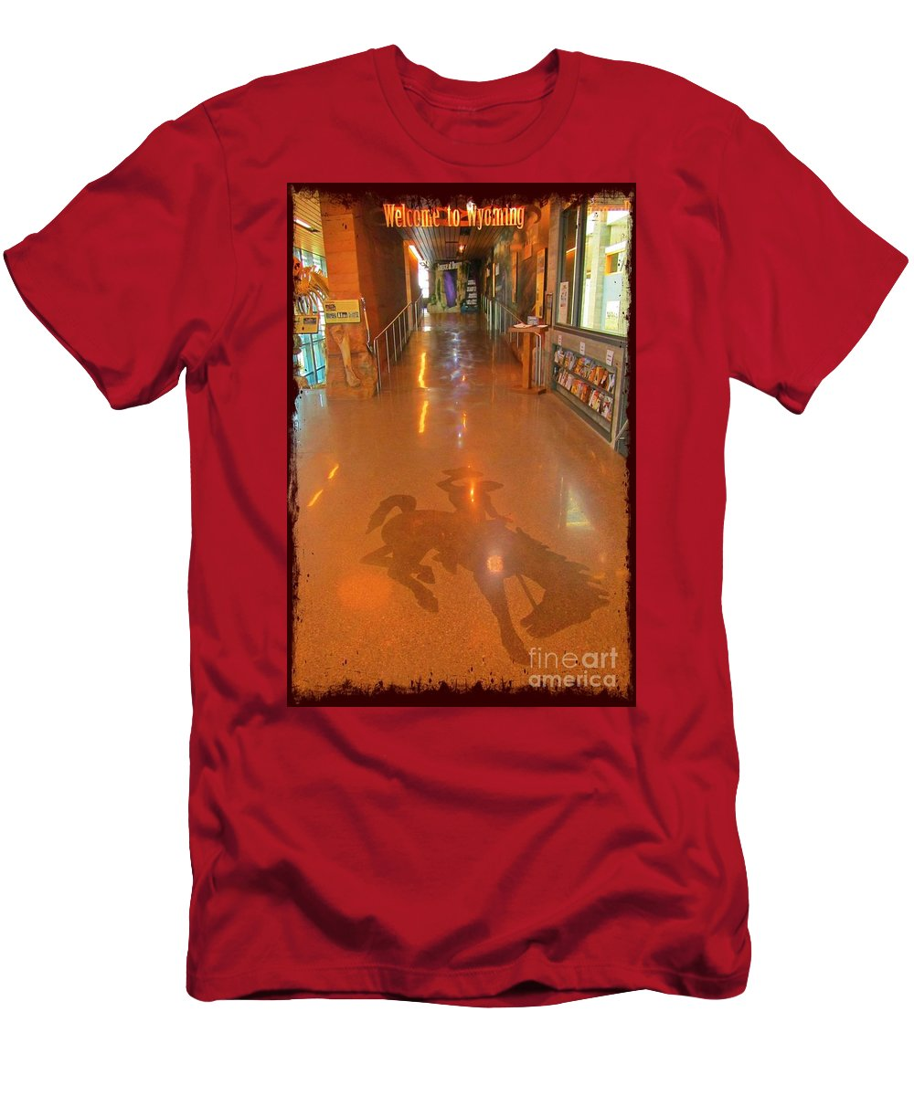 Welcome To Wyoming Men's T-Shirt (Athletic Fit) featuring the photograph Welcome To Wyoming by John Malone