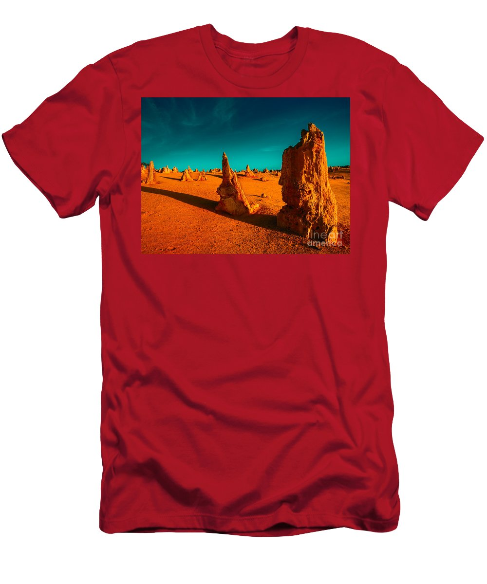 Standing Stones Men's T-Shirt (Athletic Fit) featuring the photograph When The Day Is Done by Julian Cook